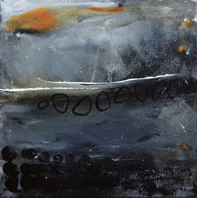 "The Bones  | 8"" x 8"" acrylic on canvas"