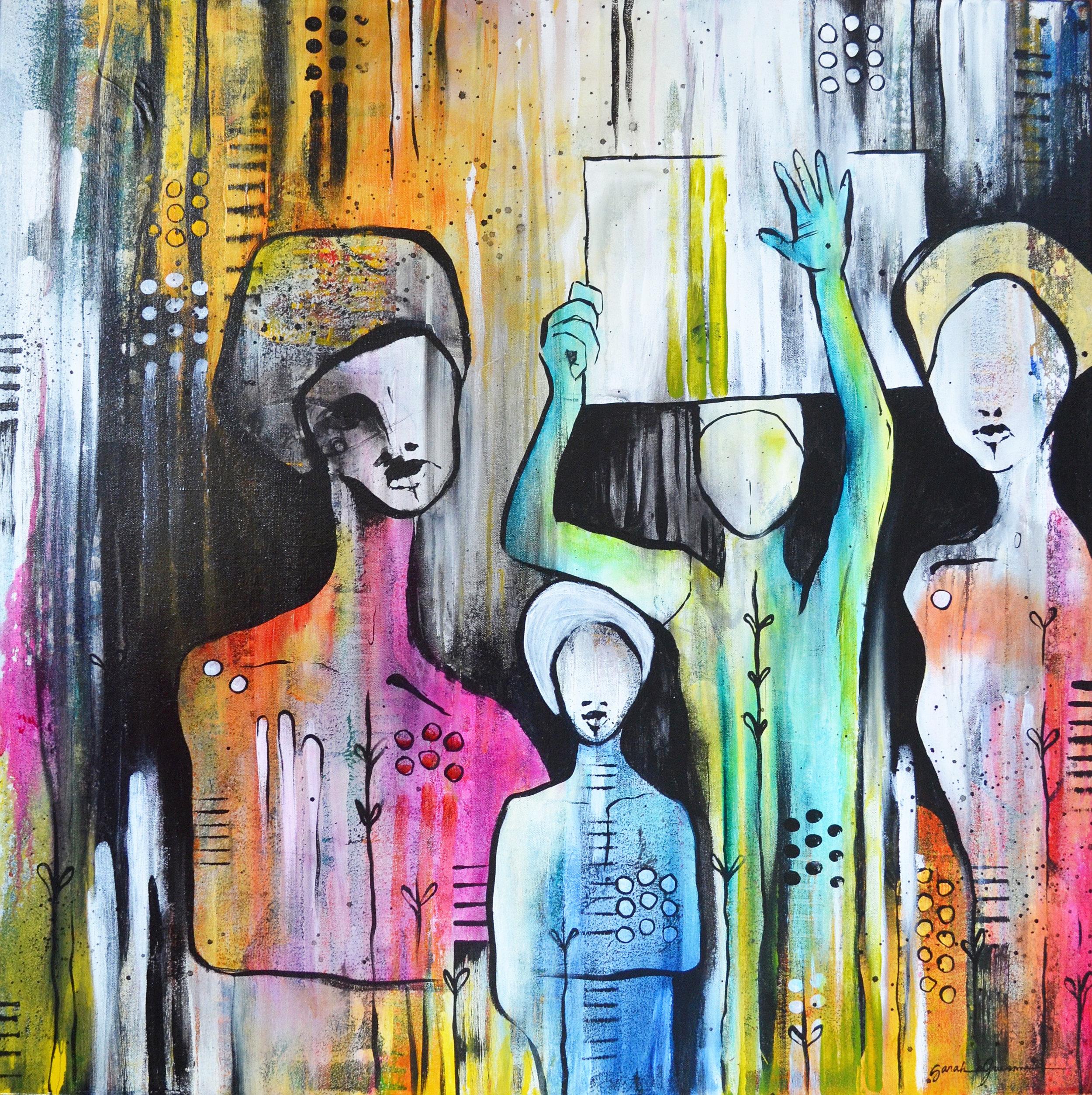 Seraphim  | 30 x 30 inch acrylic on canvas