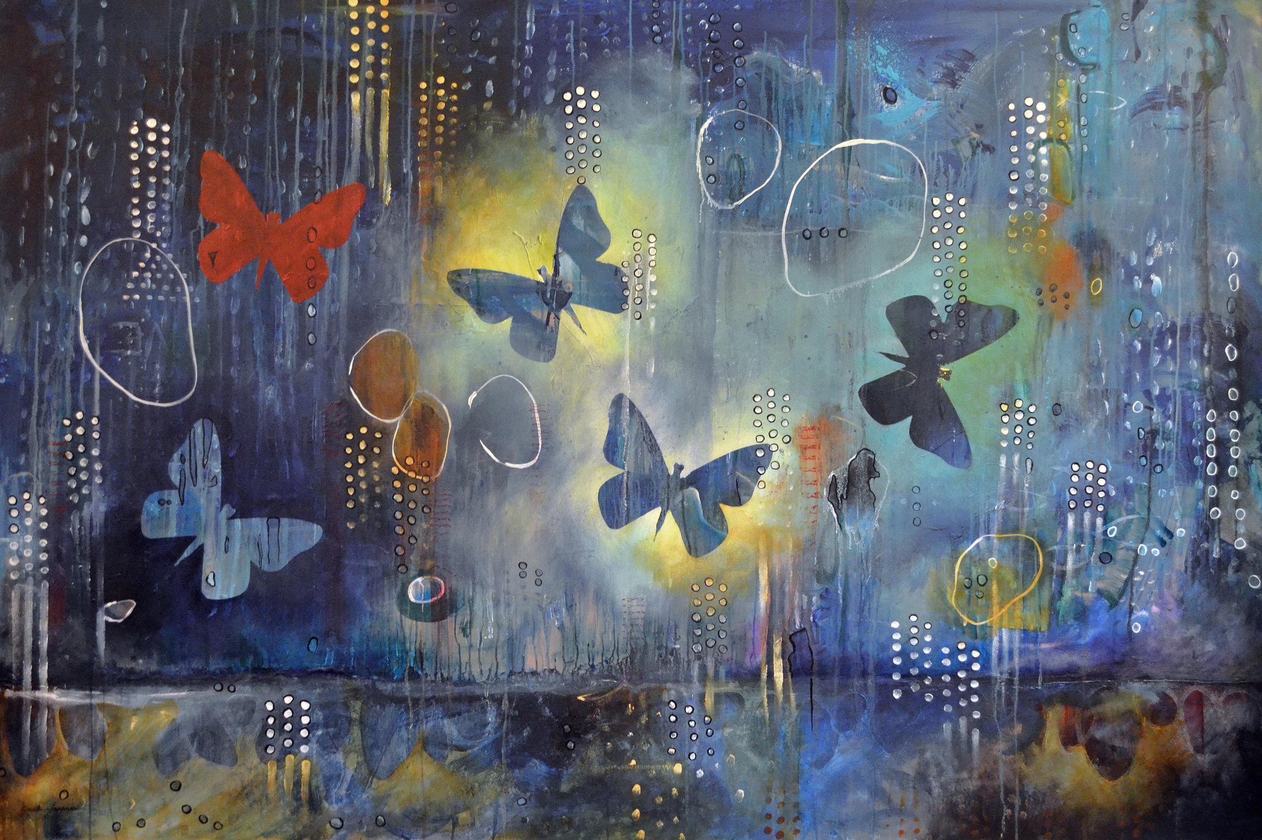 Flutter  | 48 x 60 inch acrylic on canvas