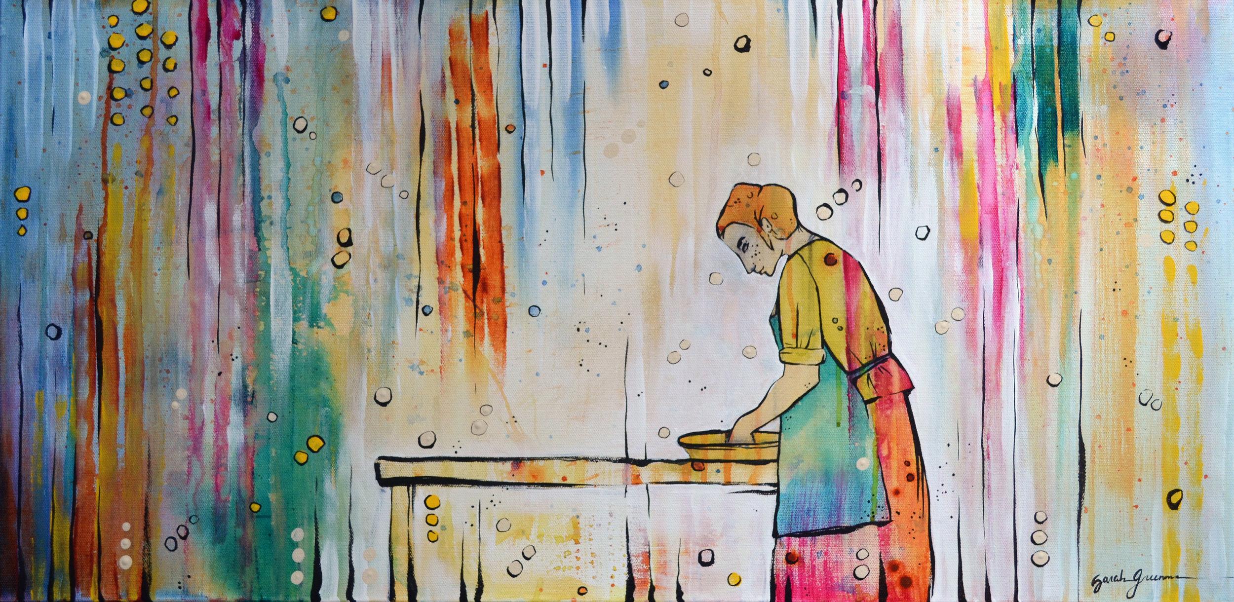 Love Language  | 15 x 30 inch acrylic on canvas
