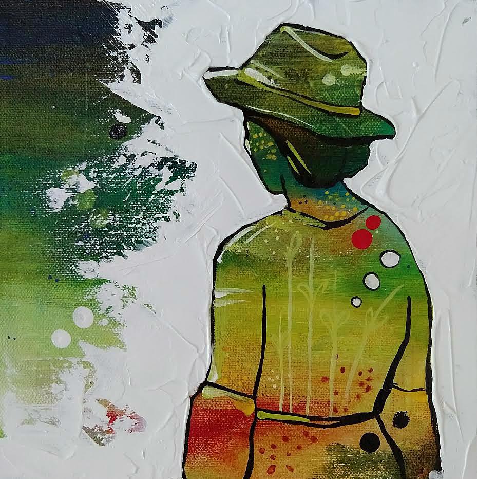 #2 Little Big Show | 8 x 8 inch acrylic on canvas