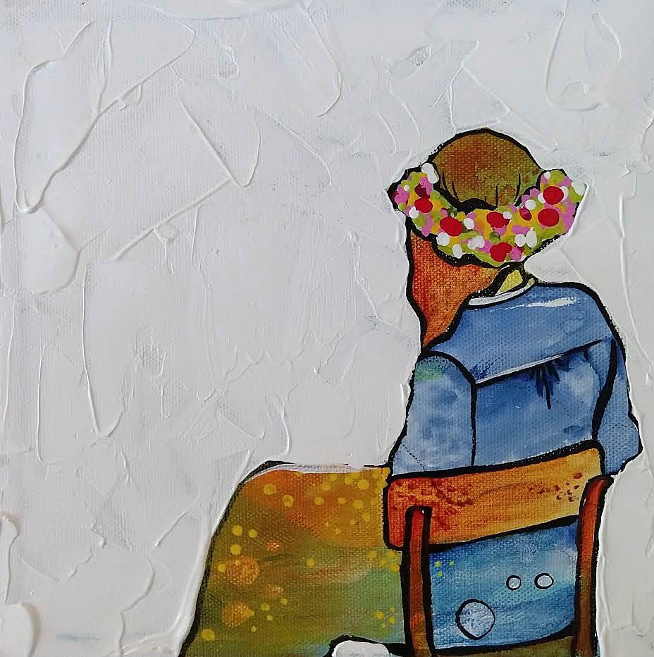#6 Little Big Show | 8 x 8 inch acrylic on canvas