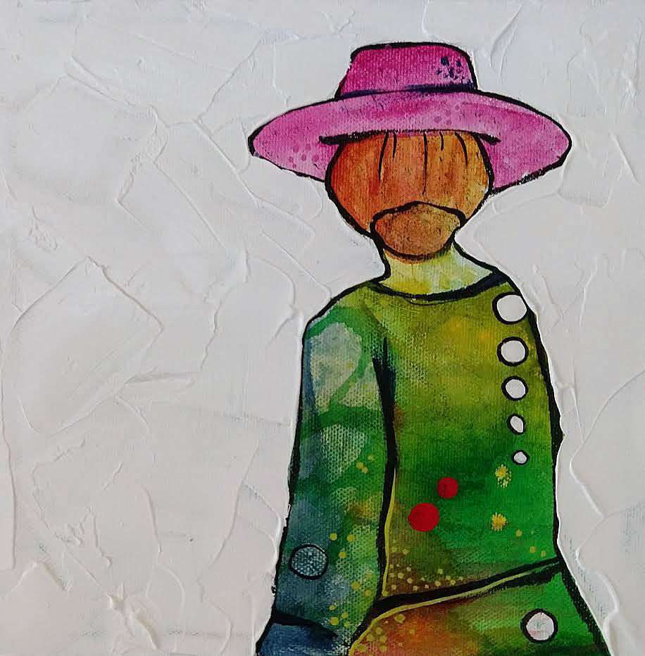 #1 Little Big Show | 8 x 8 inch acrylic on canvas