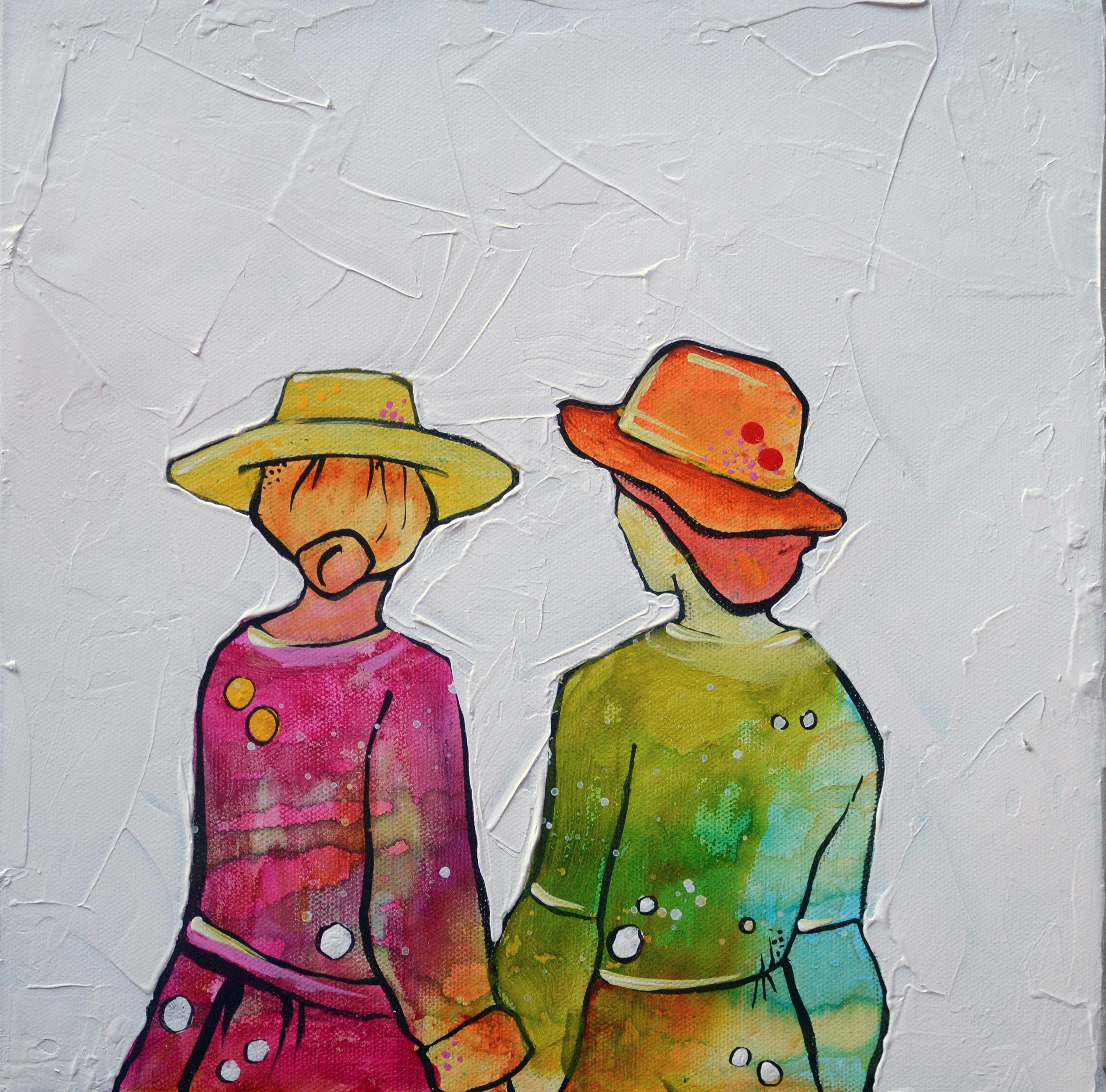 Chosen Family 2  | 12 x 12 inch acrylic on canvas