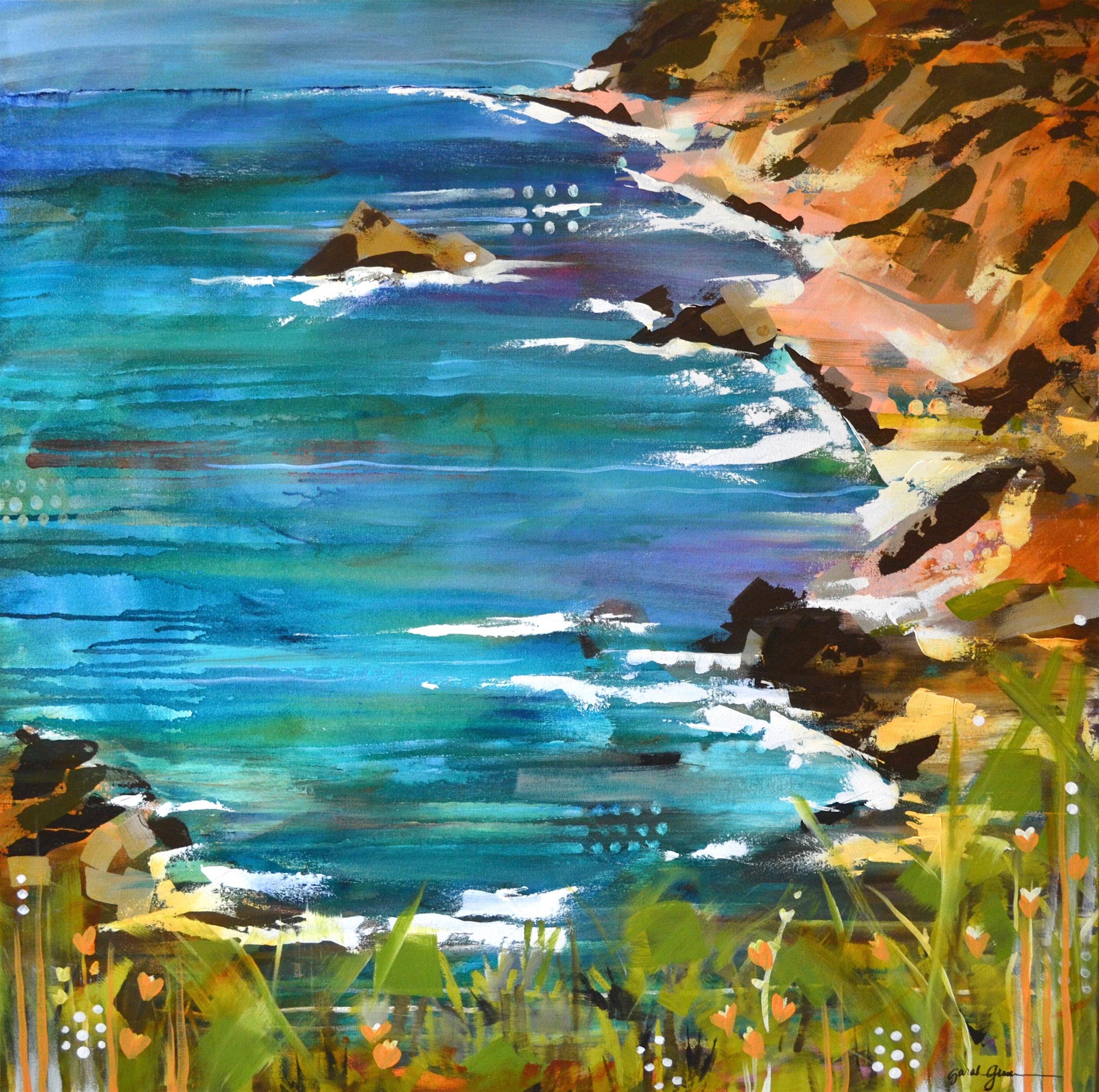 Deep Decree  | 36 x 36 inch acrylic on canvas