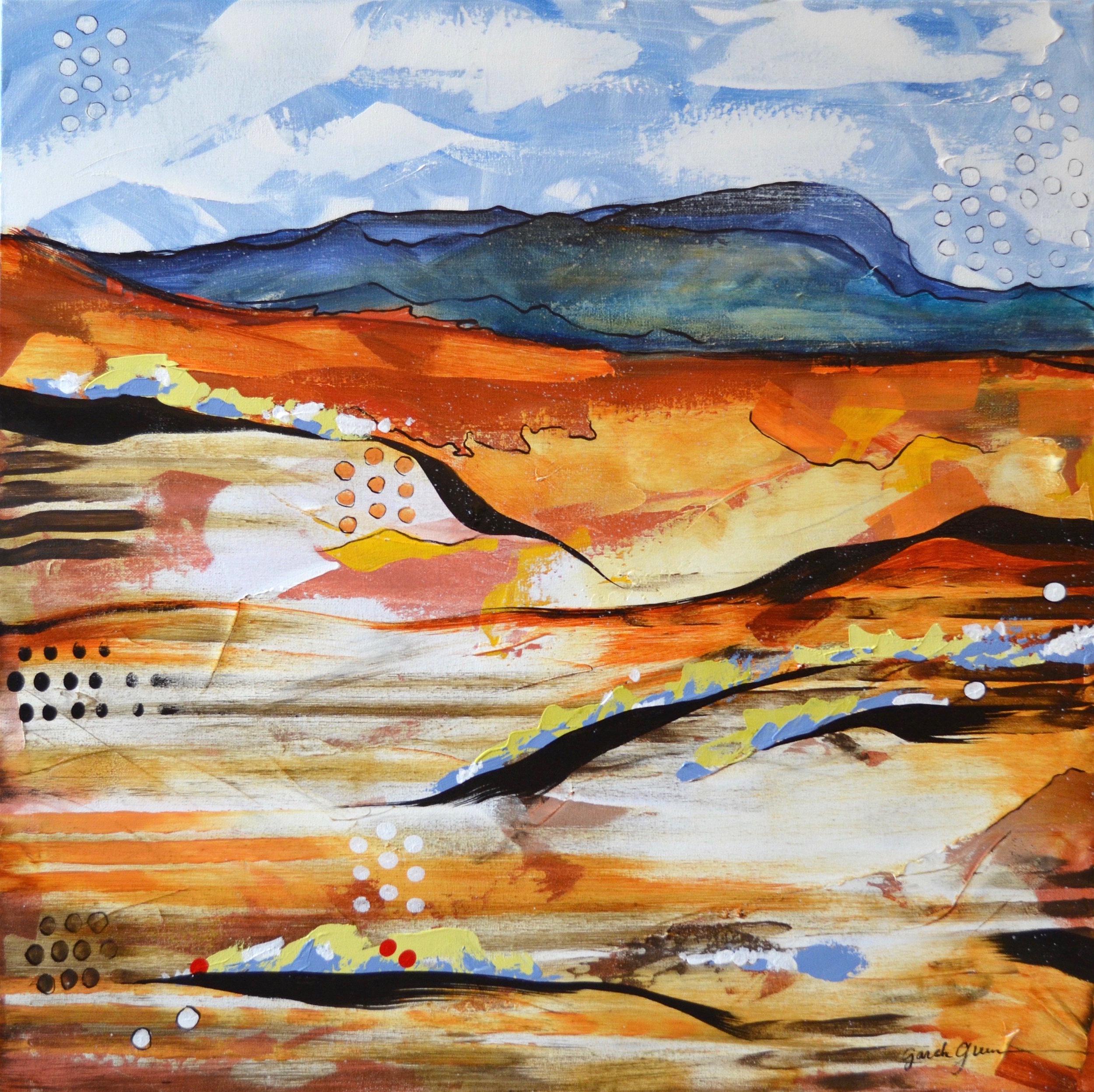 Kingdom of Daylight 1  | 24 x 24 inch acrylic on canvas