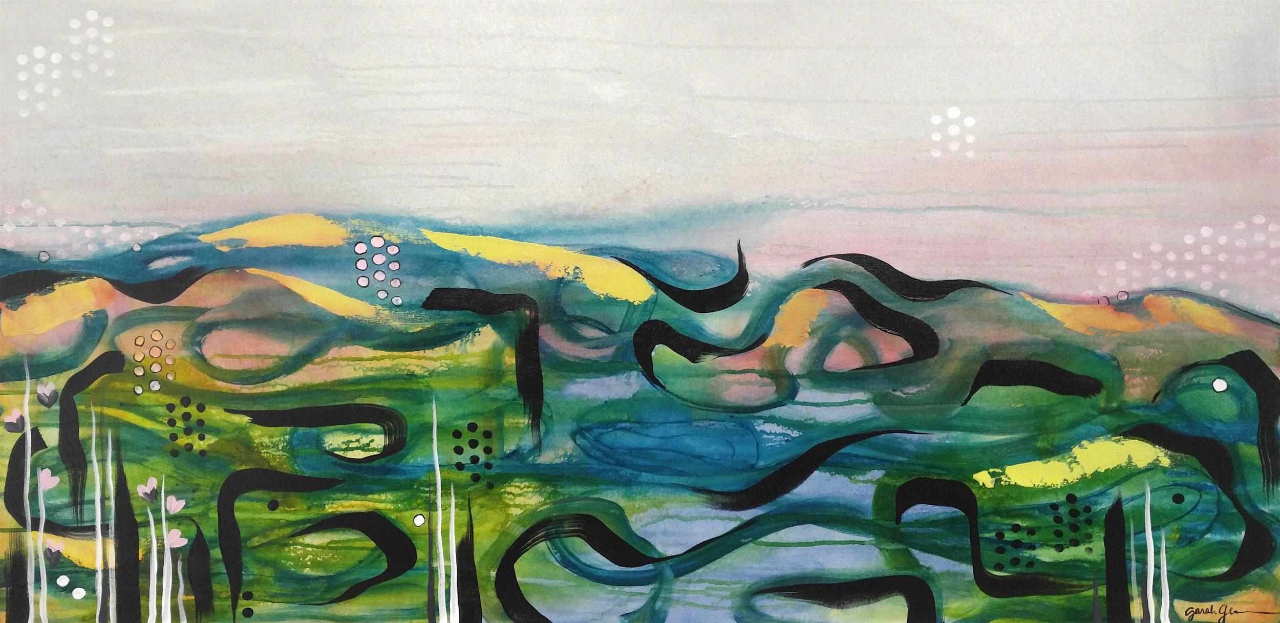 Her Earliest Stars  | 24 x 48 inch acrylic on canvas