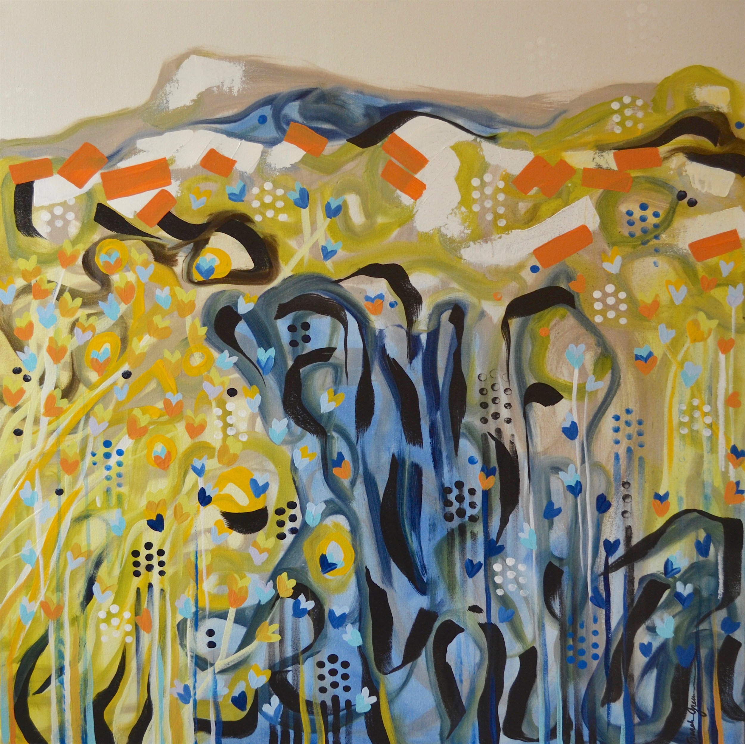 Sun-Steeped  | 36 x 36 inch acrylic on canvas
