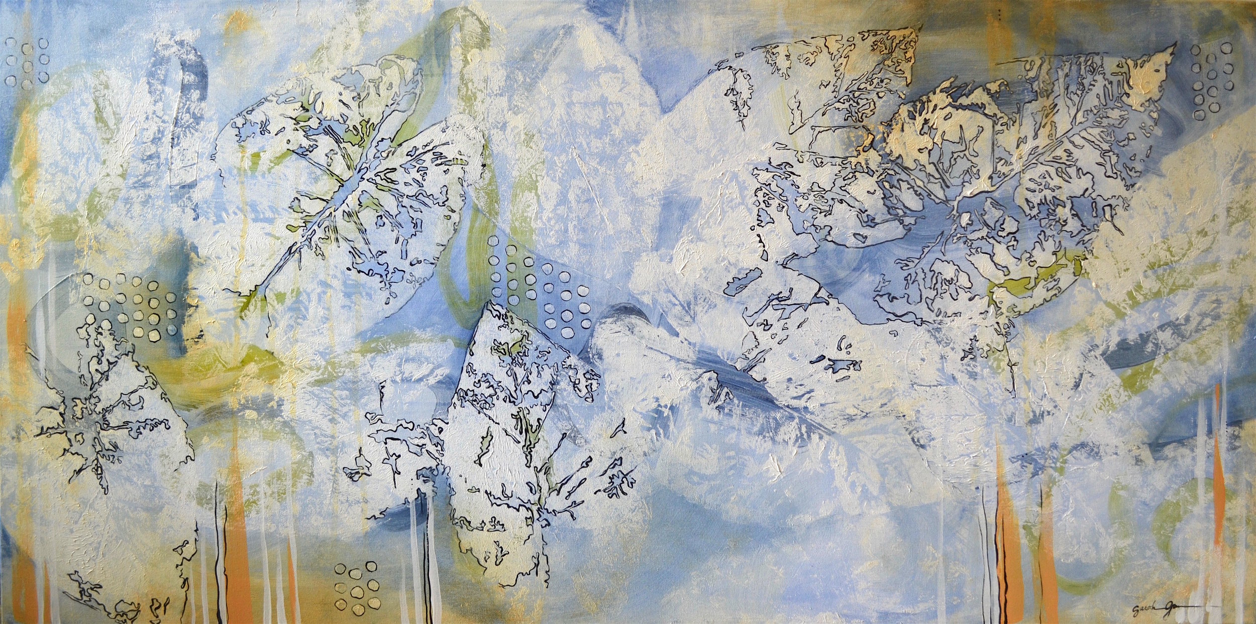 Dappled Things  | 24 x 48 inch acrylic on canvas
