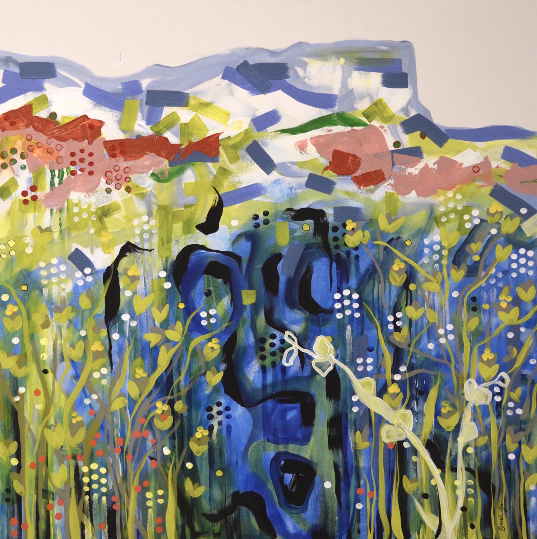 Morning Mesa 1 | 36 x 36 inch acrylic on canvas