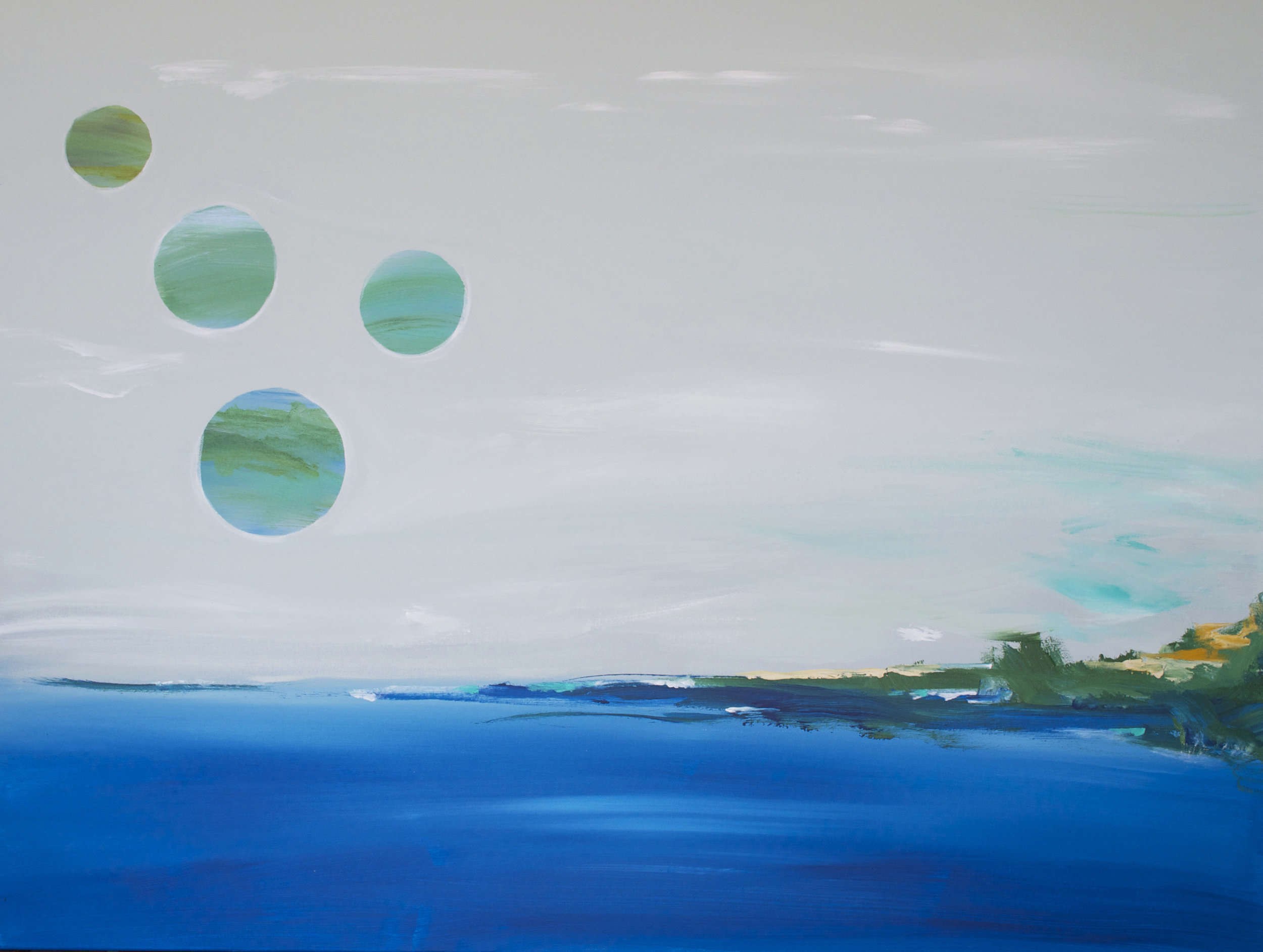 And Then There Were Four  | 36 x 48 inch acrylic on canvas