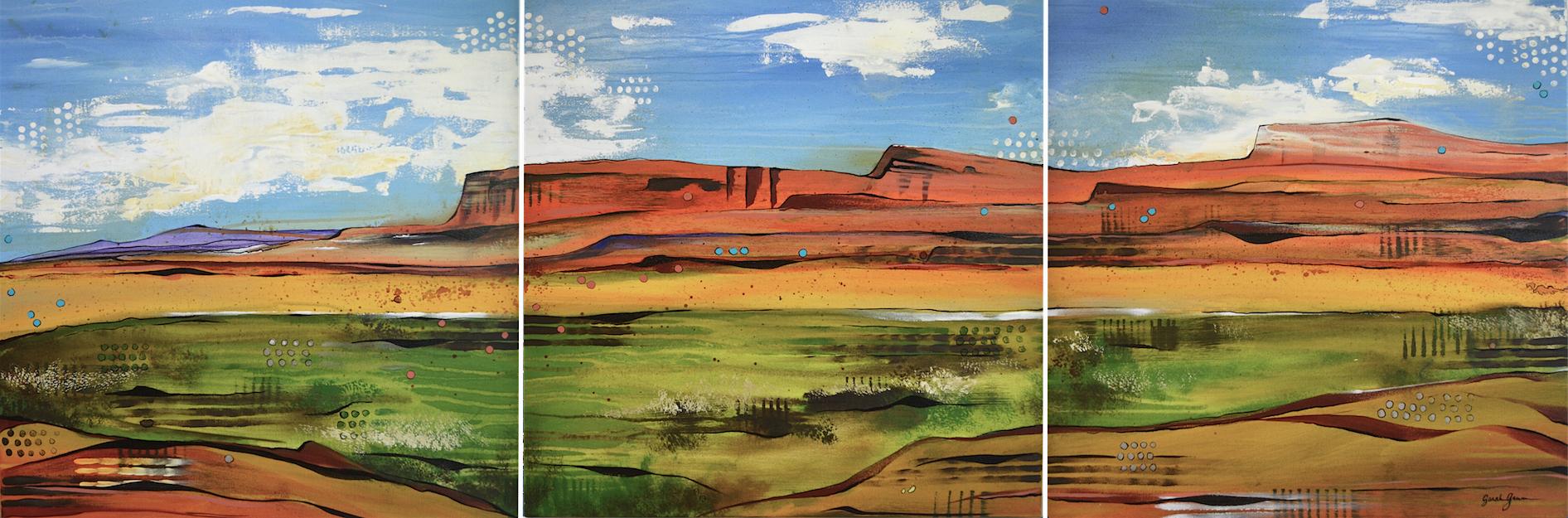 Navajo Lands  | 30 x 90 inch acrylic on canvas