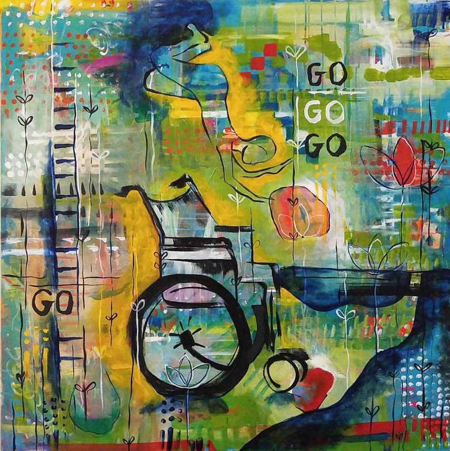 Go Go Go   |  36 x 36 inch acrylic on canvas