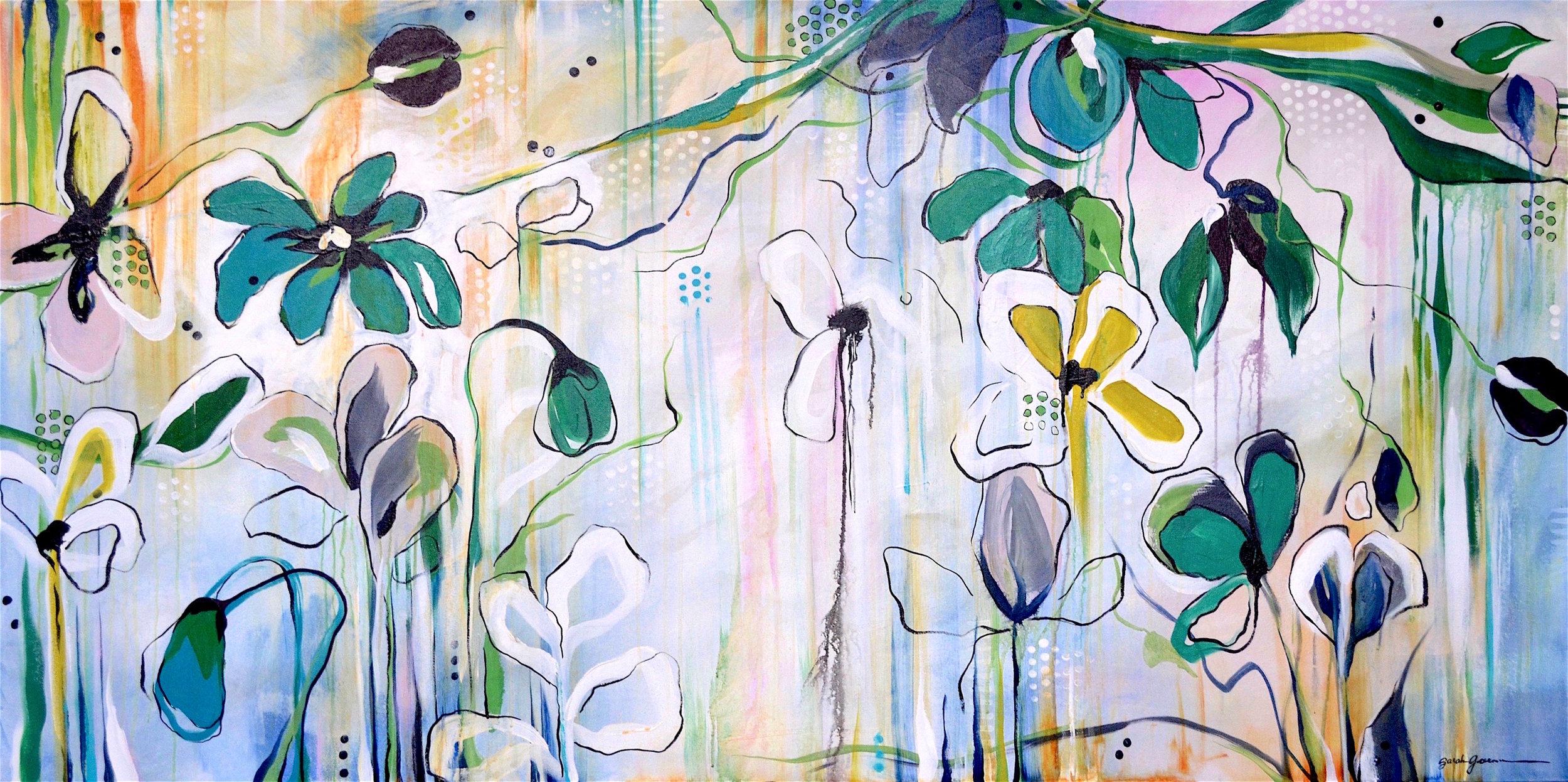 Efflorescence  | 36 x 72 inch acrylic on canvas