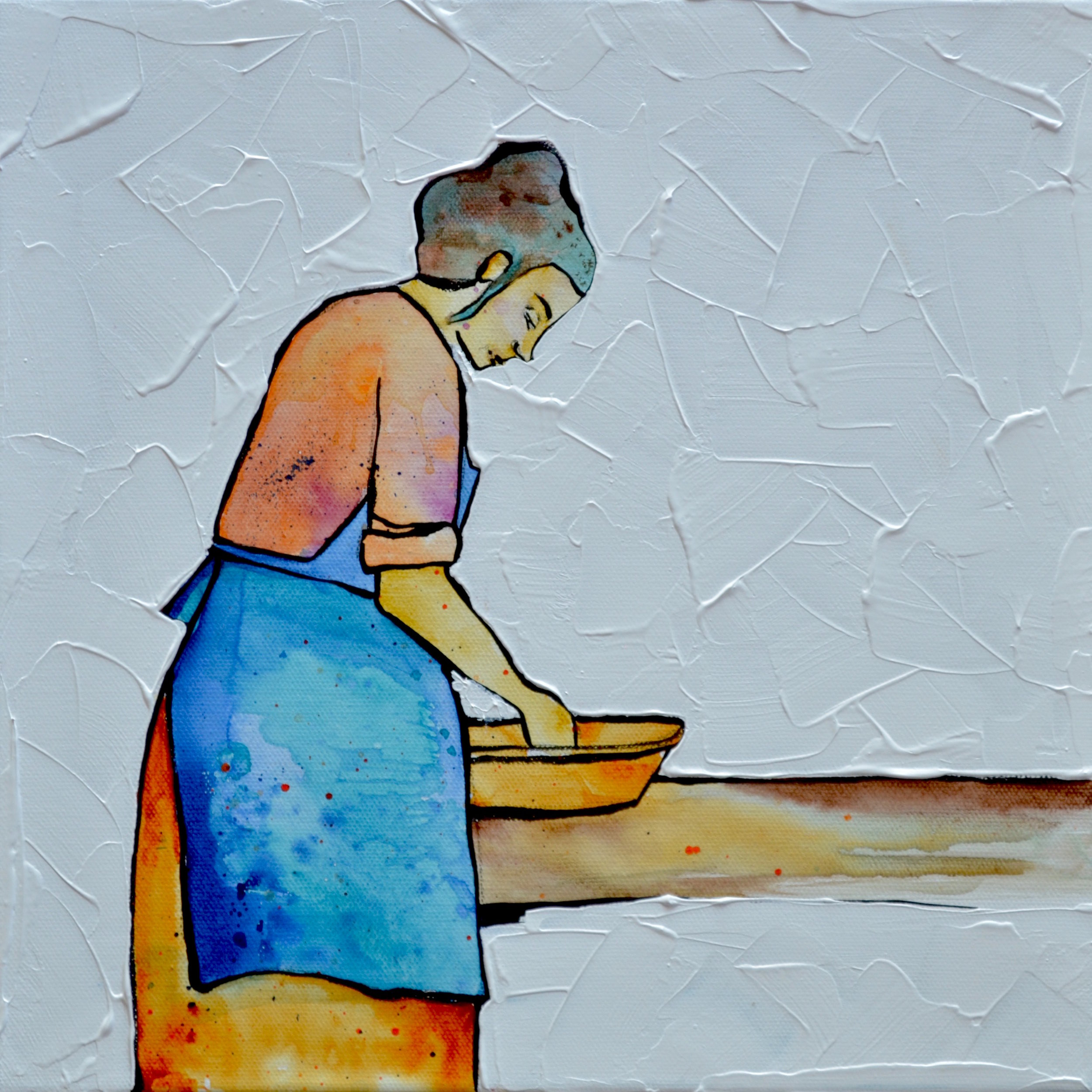 Apron Hours 2  | 12 x 12 inch acrylic on canvas
