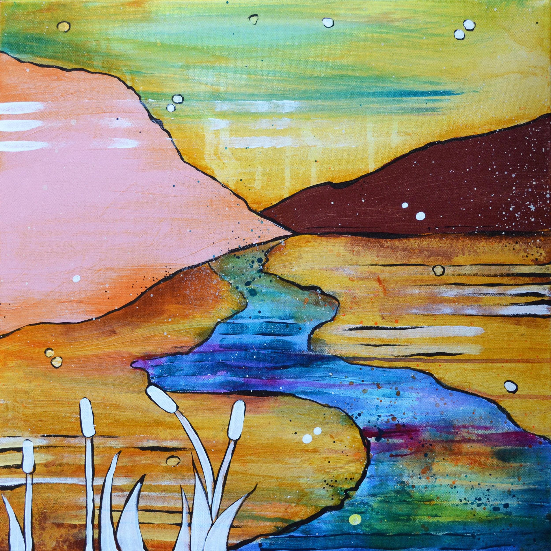 Powder River  | 20 x 20 inch acrylic on canvas