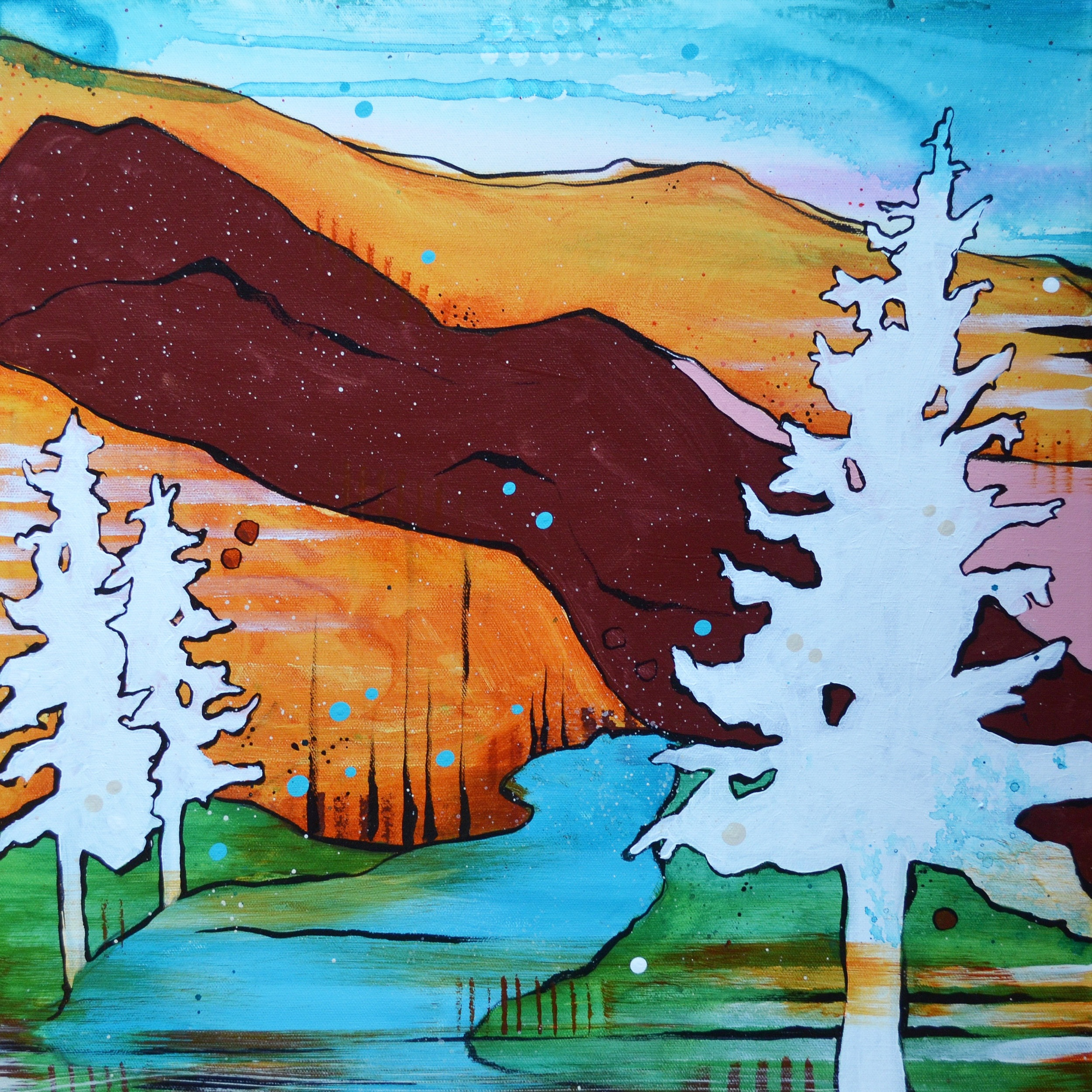Pine Creek  | 20 x 20 inch acrylic on canvas