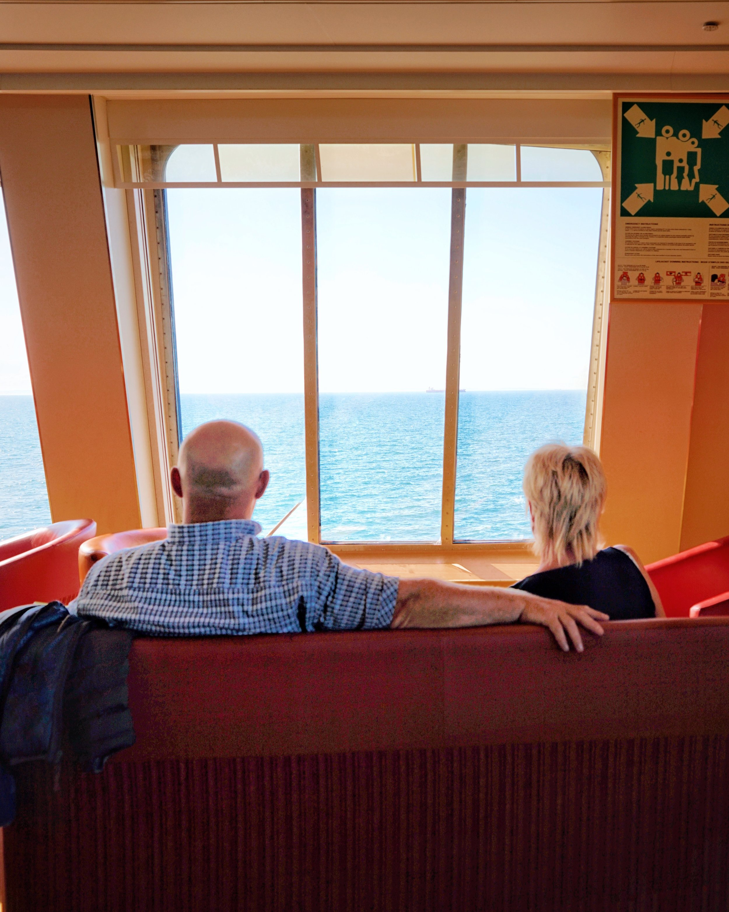 A couple taking in the view en route back to Dover.