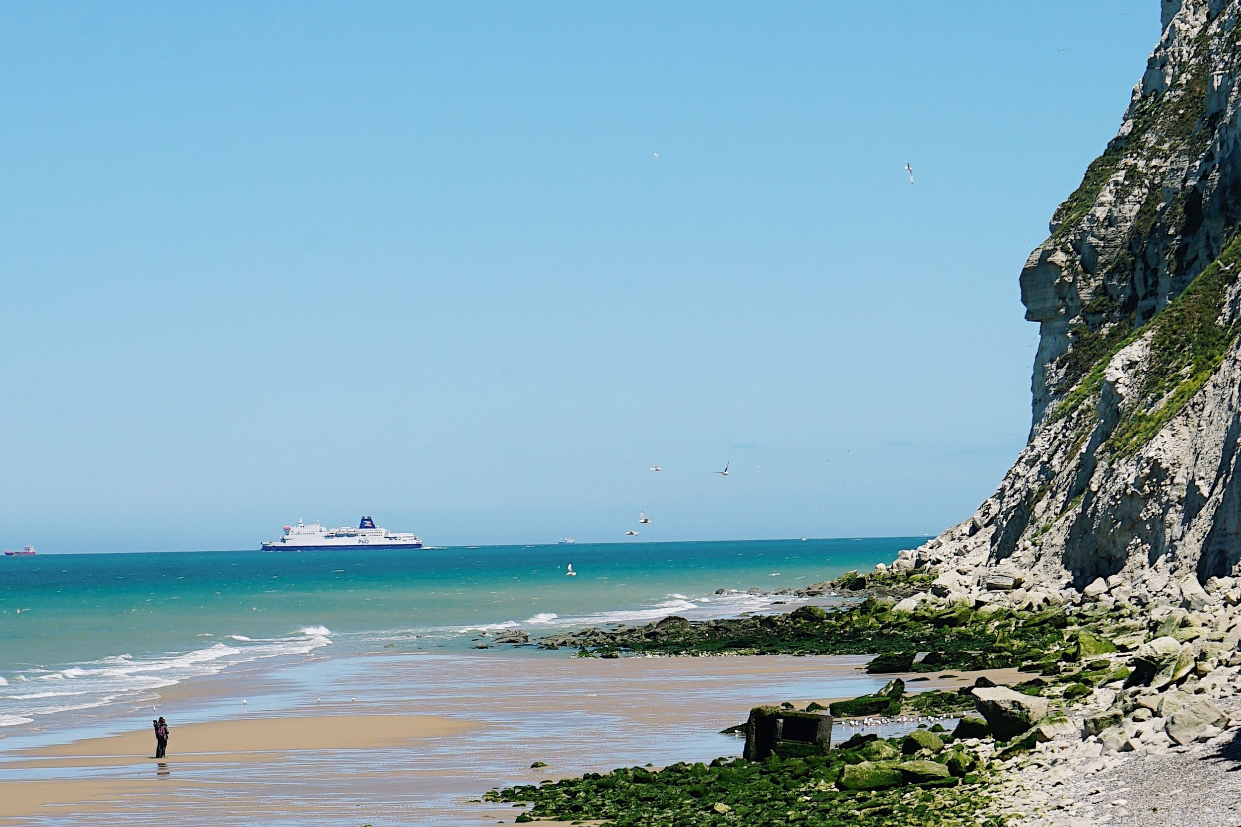 A P&O Ferries ferry leaving Calais and heading back to Blighty!