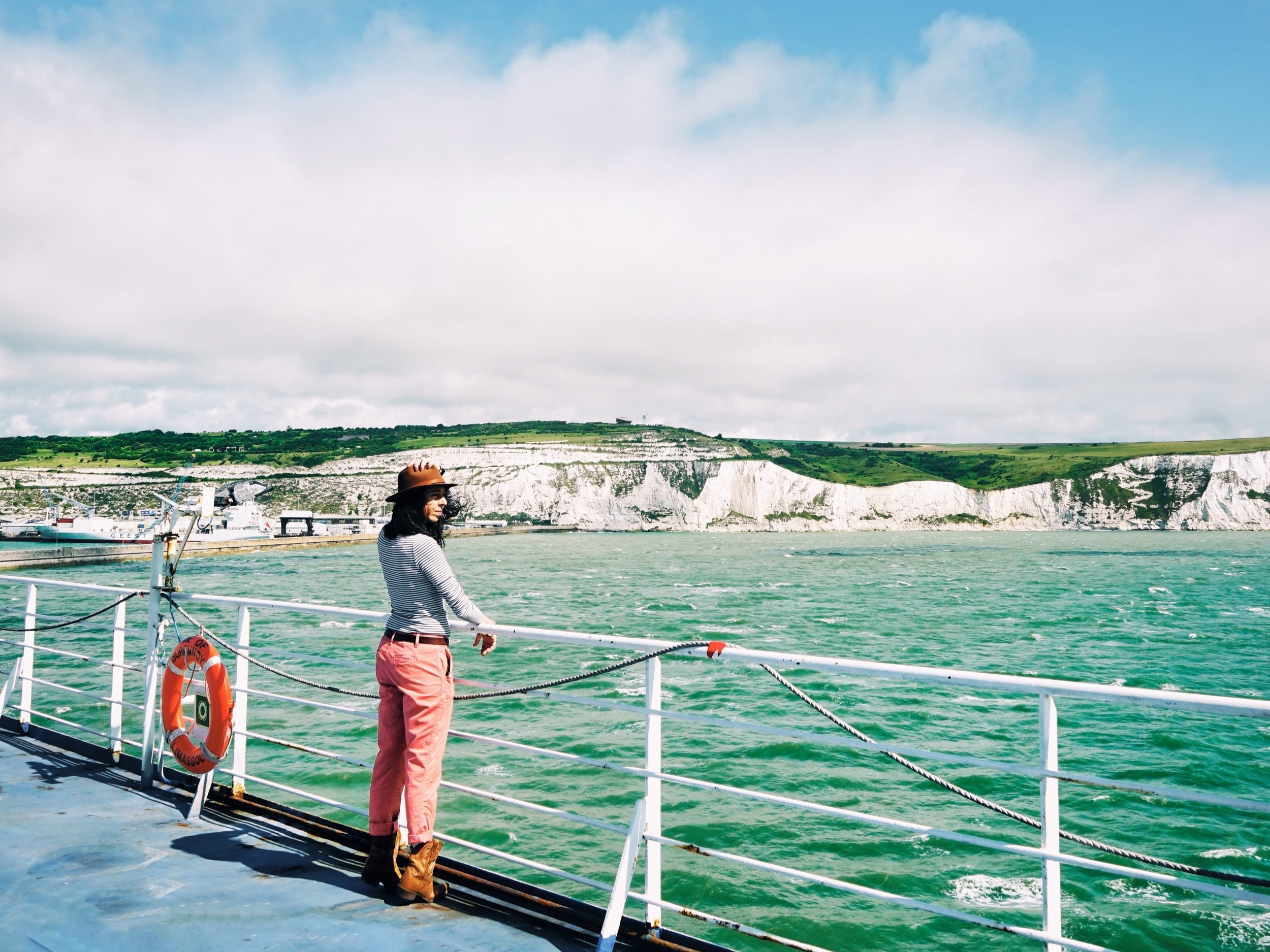 Me and the White Cliffs of Dover!