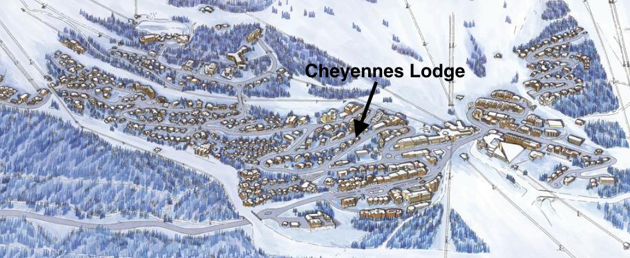 Location of the Cheyennes Lodge
