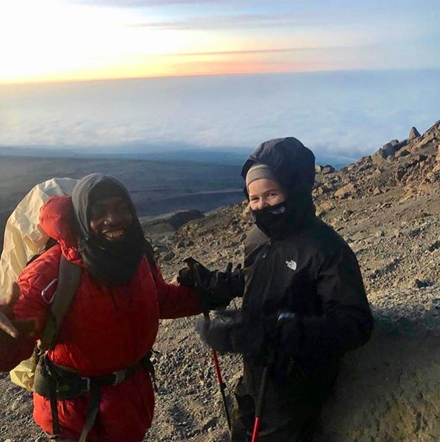 Every now and then we're stopped in our tracks, and this week we had one of those moments.  Evelyn, aged 11, reached the summit of Kilimanjaro with her dad this week. She did so well she even beat the sunrise!  We're so proud that they had a safe and successful summit. And of course a huge thank you to our fantastic local crew.  It's a big achievement for anyone, at any age, but to do so at 11 is remarkable.  We take our hats off to you Evelyn!  #kilimanjaro #summit