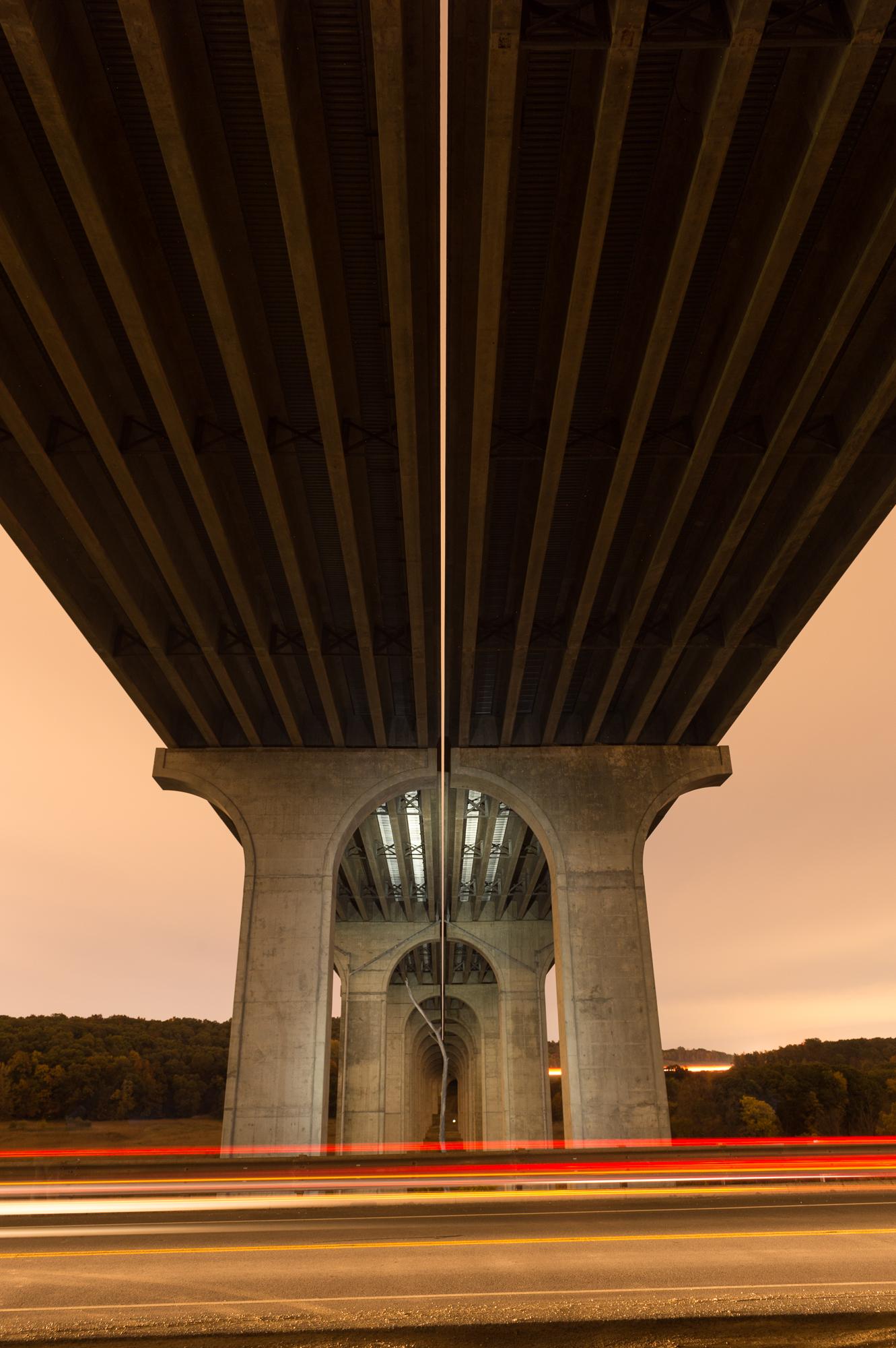 Figure 4: Light painting bridge piers