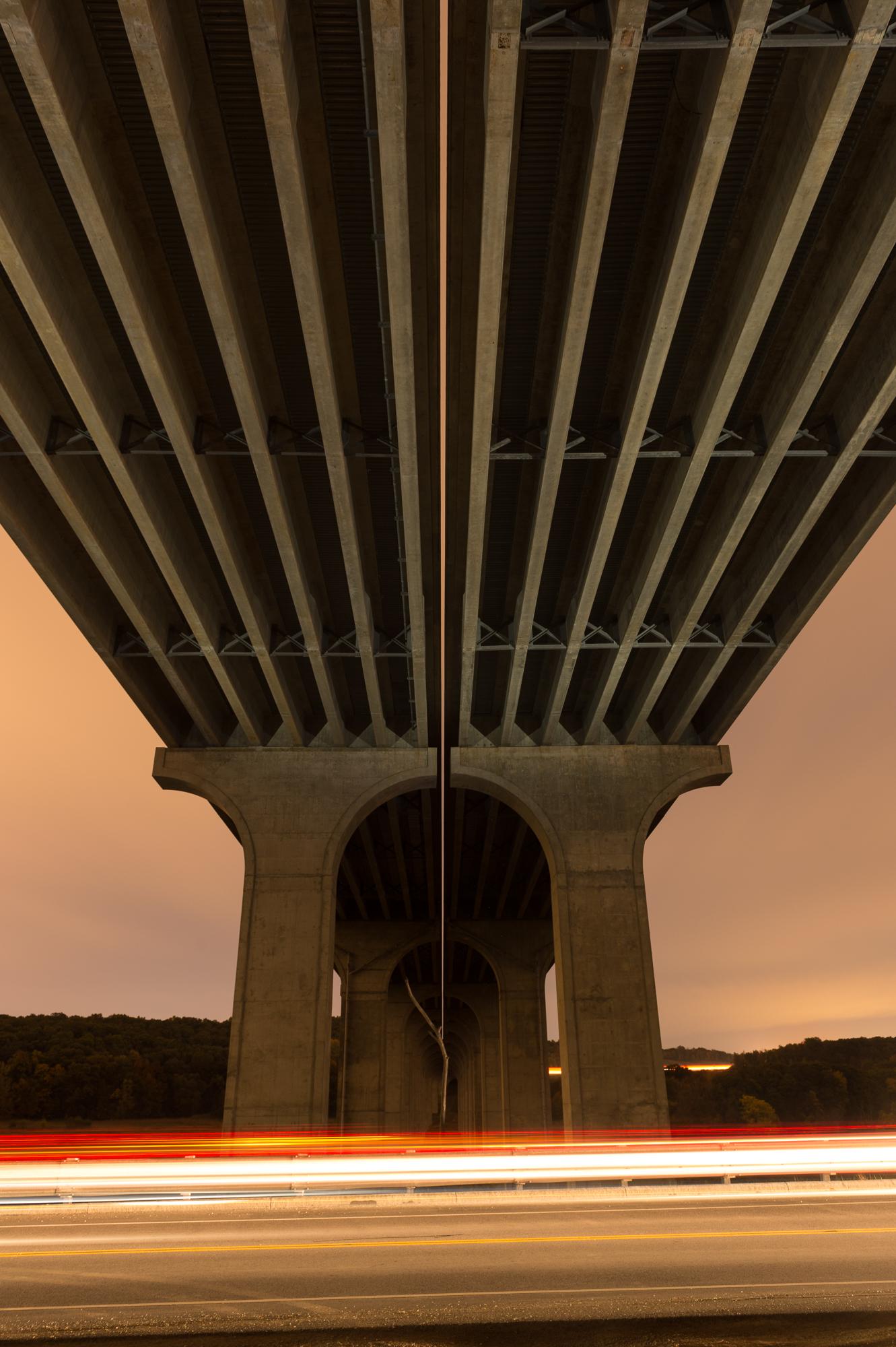 Figure 3: Light-painting underside of the bridge