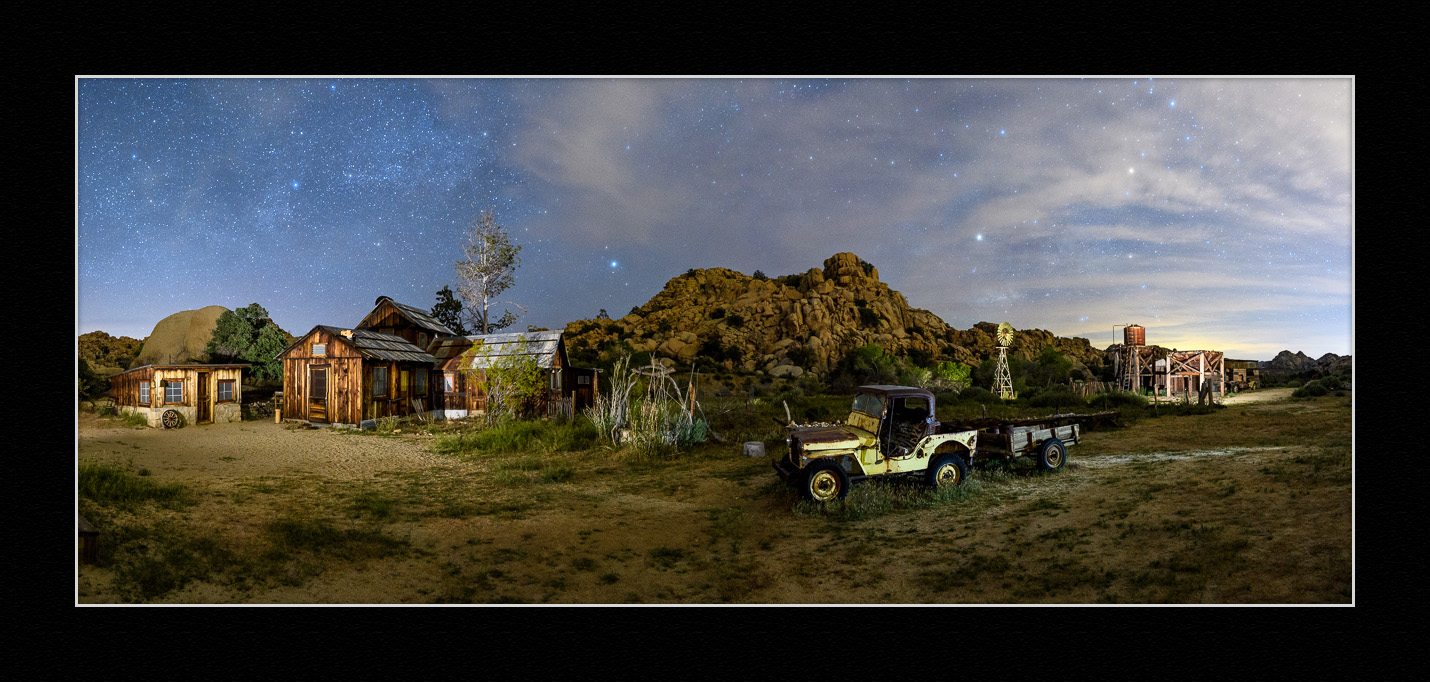 Desert Queen Ranch panorama, as team-photographed by our workshop, April 25, 2017. Photograph by Deane Hall, Jeannine Henebry, Romit Maity, Kurt O'Hare, Priscilla Spencer, Lance Keimig and Chris Nicholson.