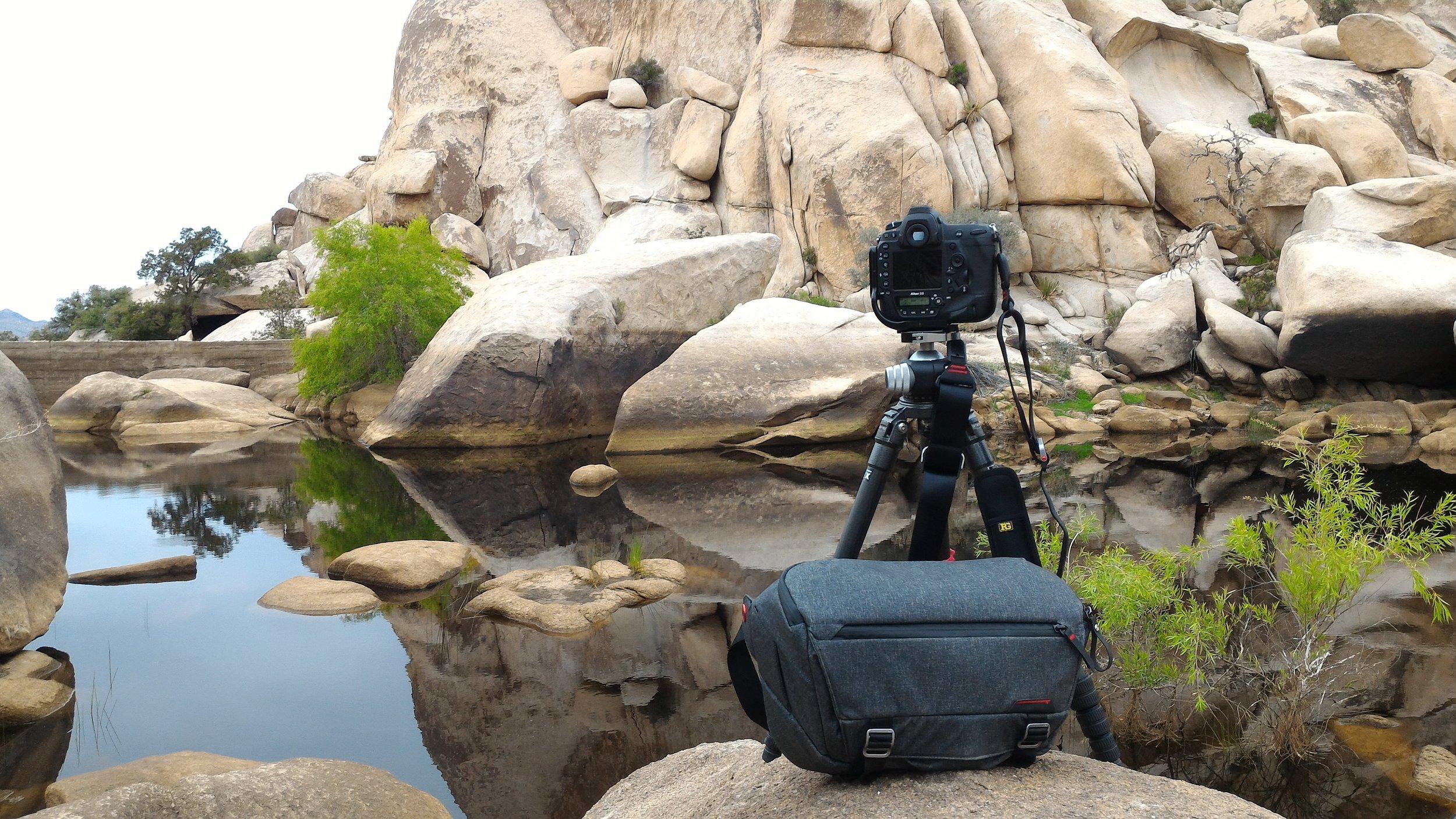 Gitzo 3541LS, Peak Design Everyday Messenger Bag, Joshua Tree National Park