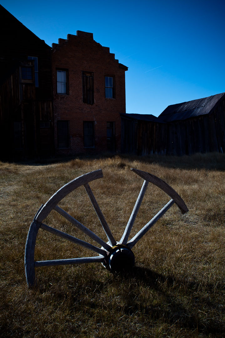 Bodie Ghost Town, California. 15 minutes, f/8, ISO 100.  Canon 5D Mark II , Nikon 28mm f/3.5 PC lens.