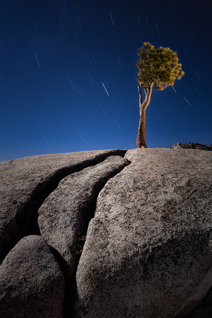 Olmsted Point, Yosemite National Park, California. 15 minutes, f/16, ISO 400.  Canon 5D Mark II , Nikon 28mm f/3.5 PC lens.
