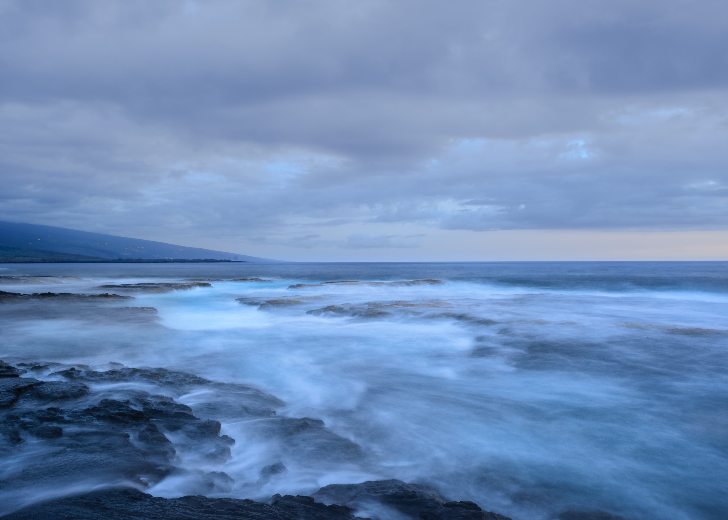 Hawaii in the blue hour. Nikon D4. 15 seconds, f/11, ISO 400.