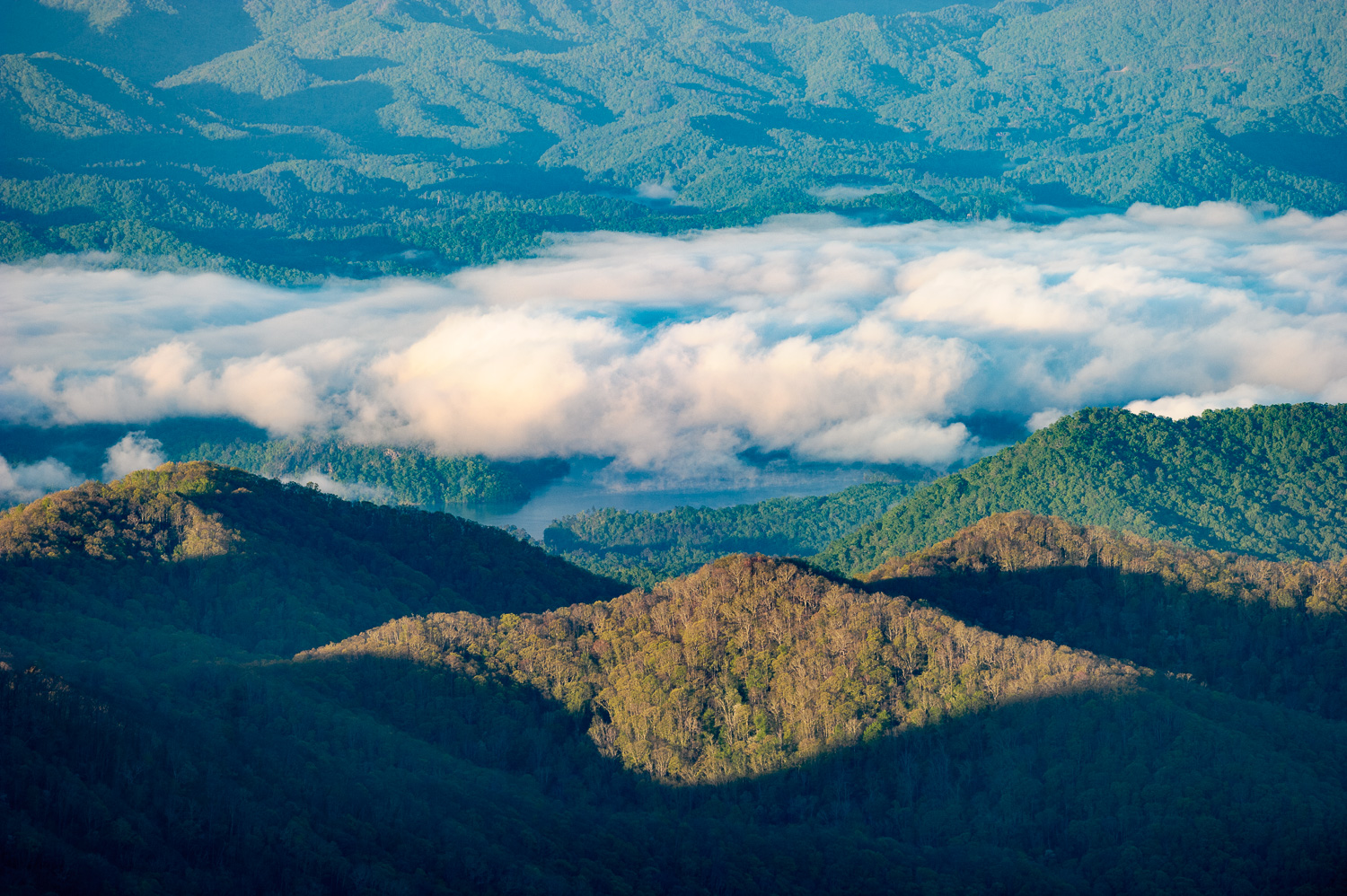 Clouds in the valleys of Great Smoky Mountains National Park. © 2013 Chris Nicholson.