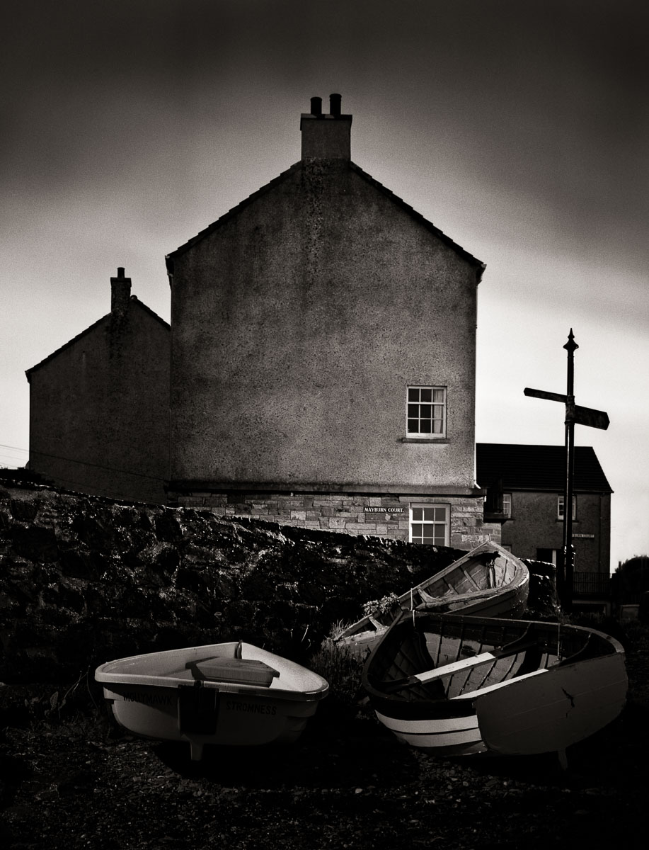 Lance Keimig, Stromness, 2008. Shot on Fuji Neon Across 120 film with an Ebony 23SW view camera and Nikkor 65mm f/4 lens. 10 minutes, f11. This image was made in the tiny fishing village of Stromness on Orkney in northern Scotland. It was the house of the poet  George Mackay Brown . The technology doesn't matter, the image works because of the combination of vision and craft.