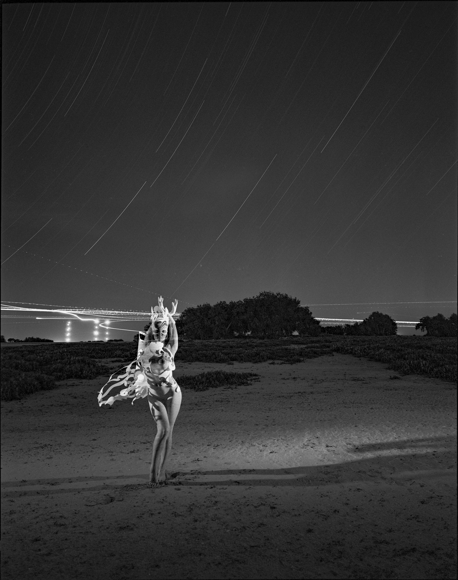 Figure 2: Skyler at Barr Lake State Park, Colorado (2012)from my  Night Paper  project. Mamiya 7 II. 60 minutes, f/11, ISO 200 (Ilford XP2).