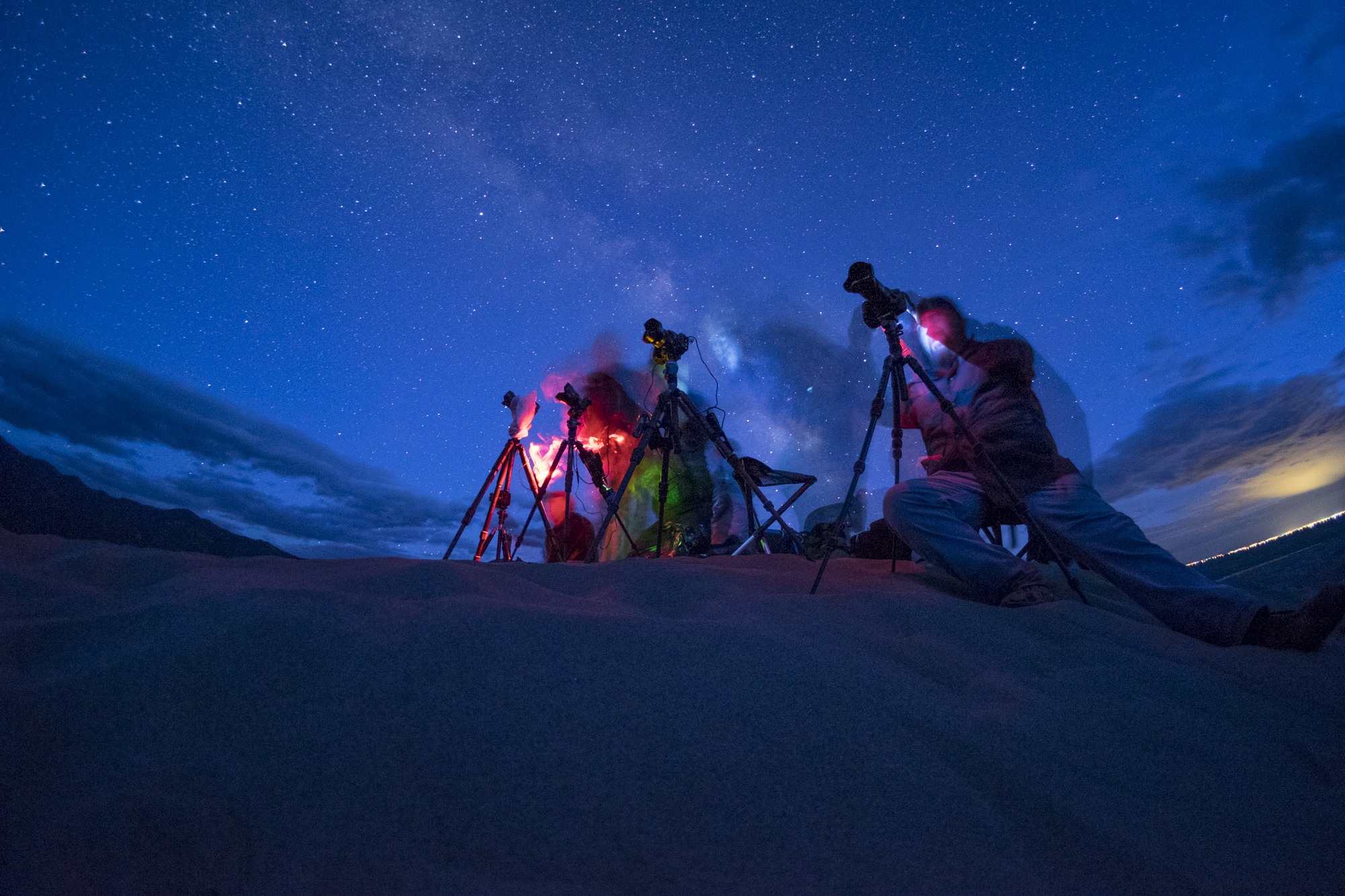 Figure 8. A second camera set for behind-the-scenes captured this beautiful moment during our Great Sand Dunes workshop.