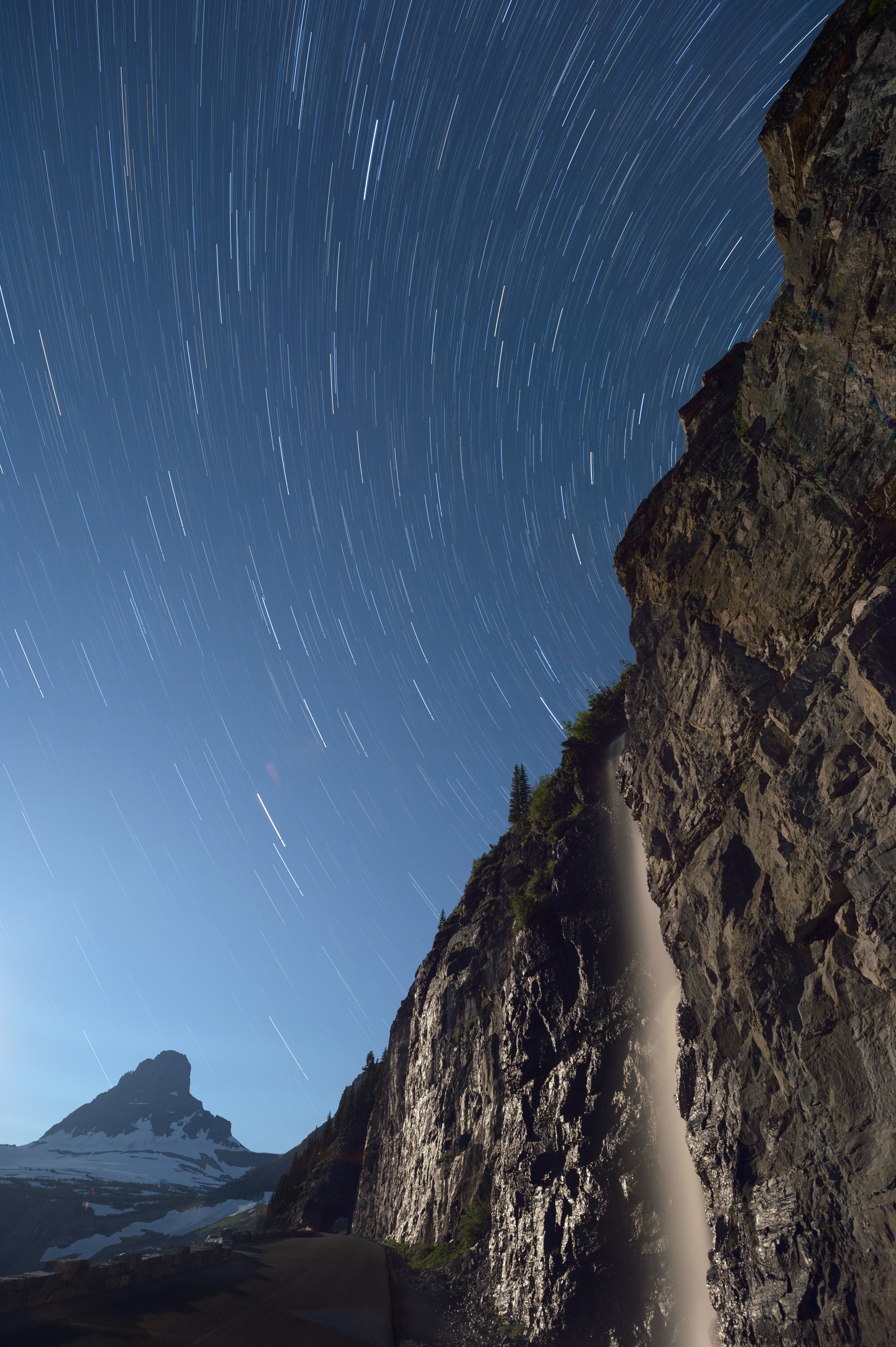 Mt Clements, Star Trails, Waterfall