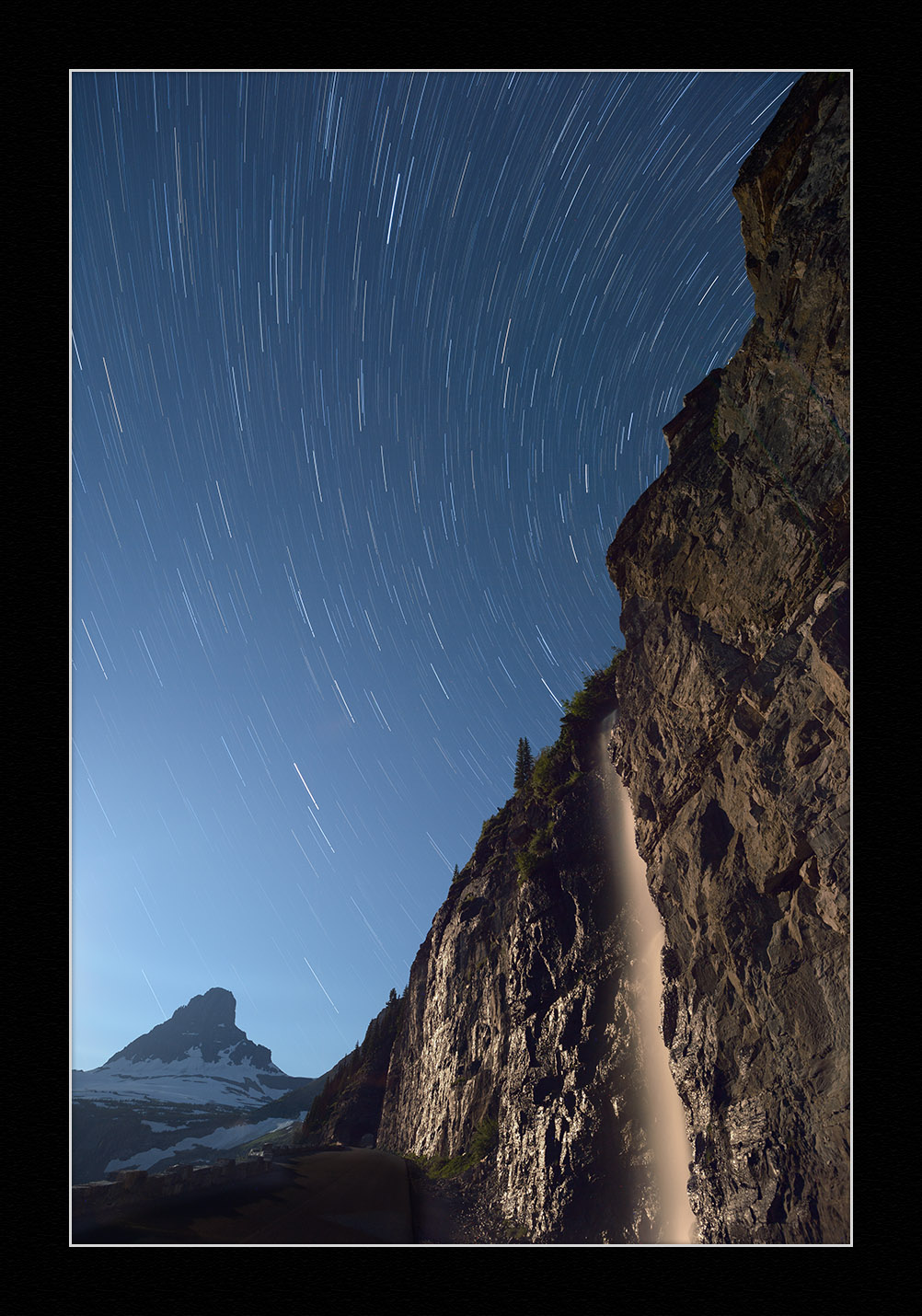 """ Clements Mountain, Star Trails, Waterfall .""  ©  Tim Cooper."
