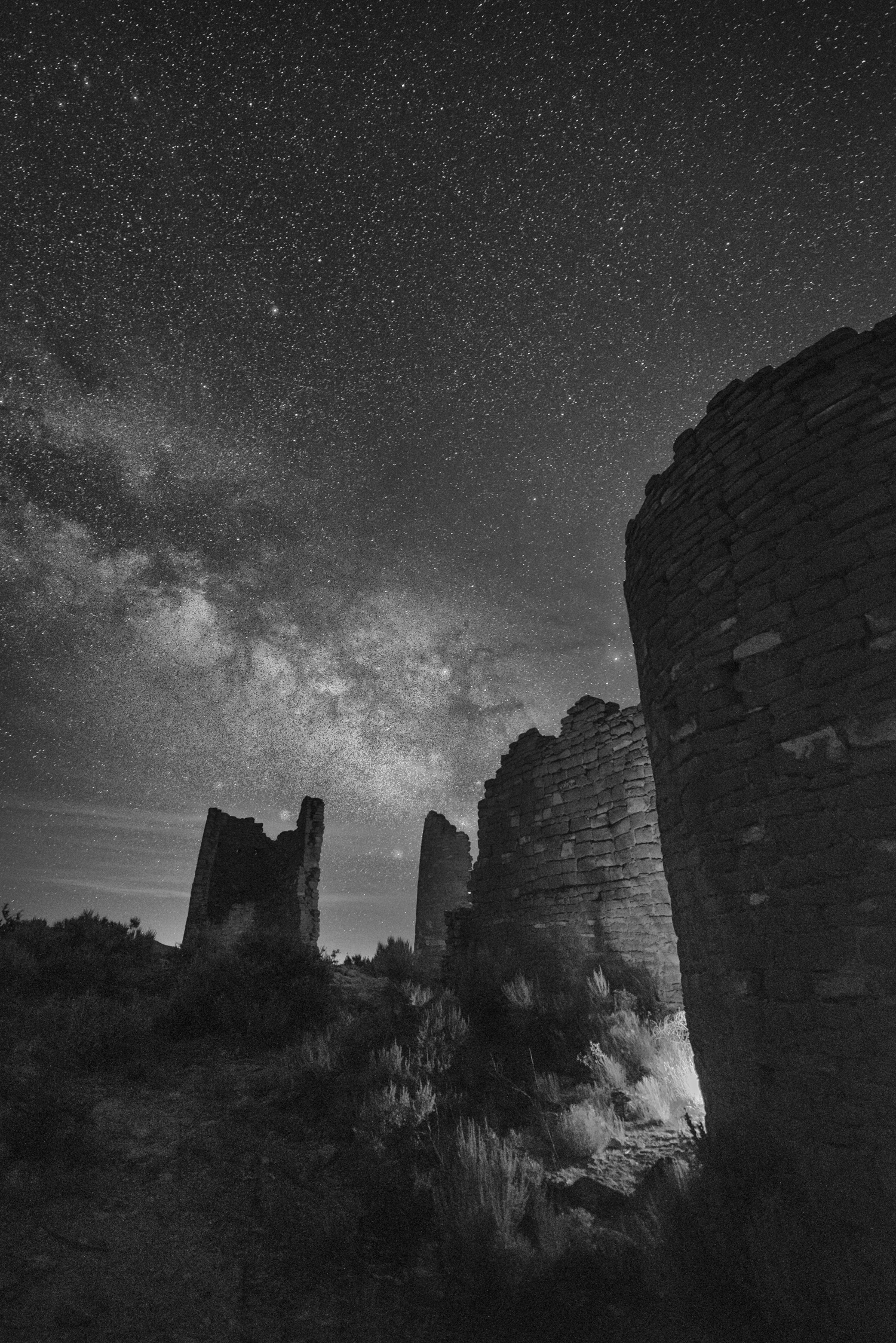 Around the backside of the ruins, I found this. Nikon D750, Zeiss Distagon 15mm f/2.8. 25 seconds, f/2.8, ISO 6400.