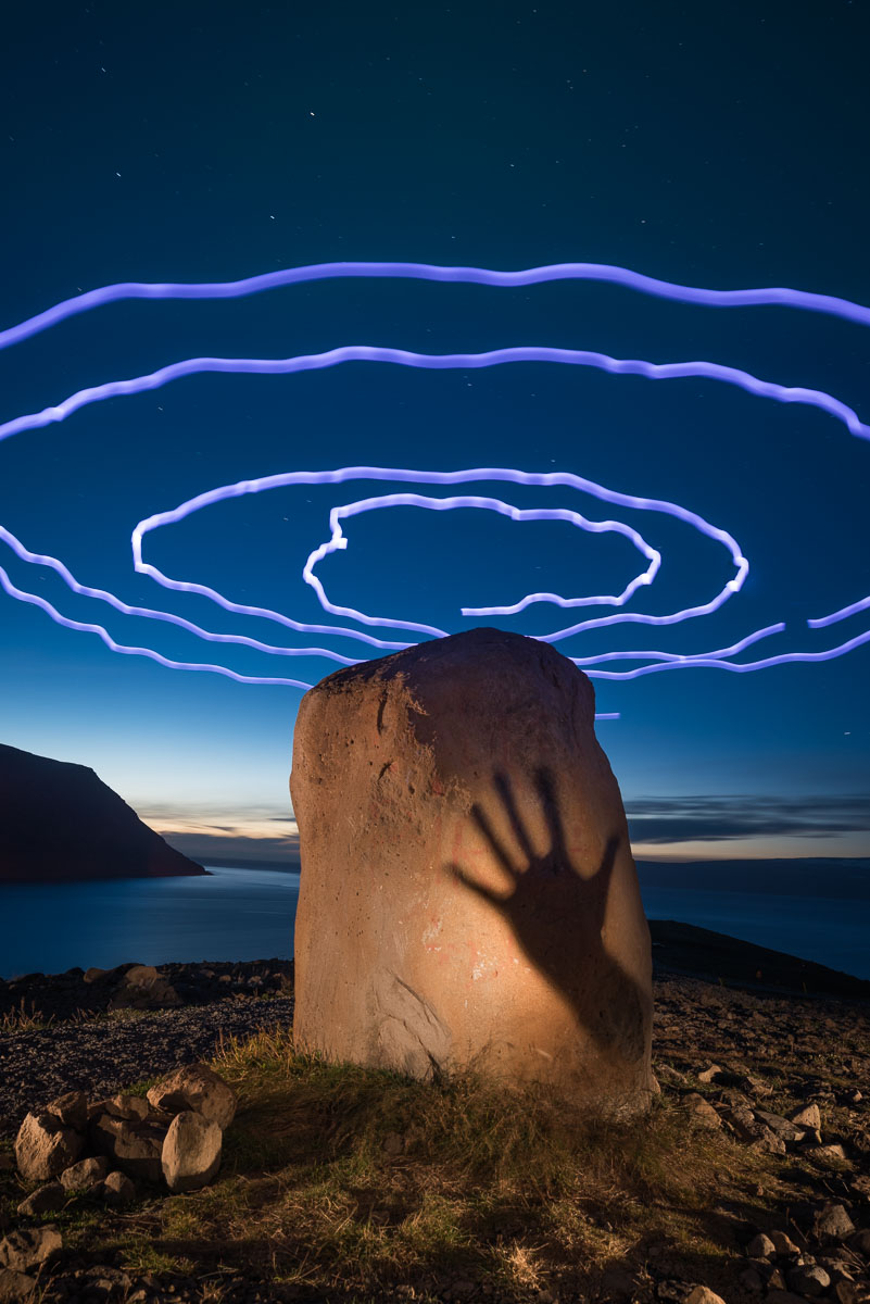 """"""" How We Got The Shot: Light Painting The Upright Stone In Iceland """""""