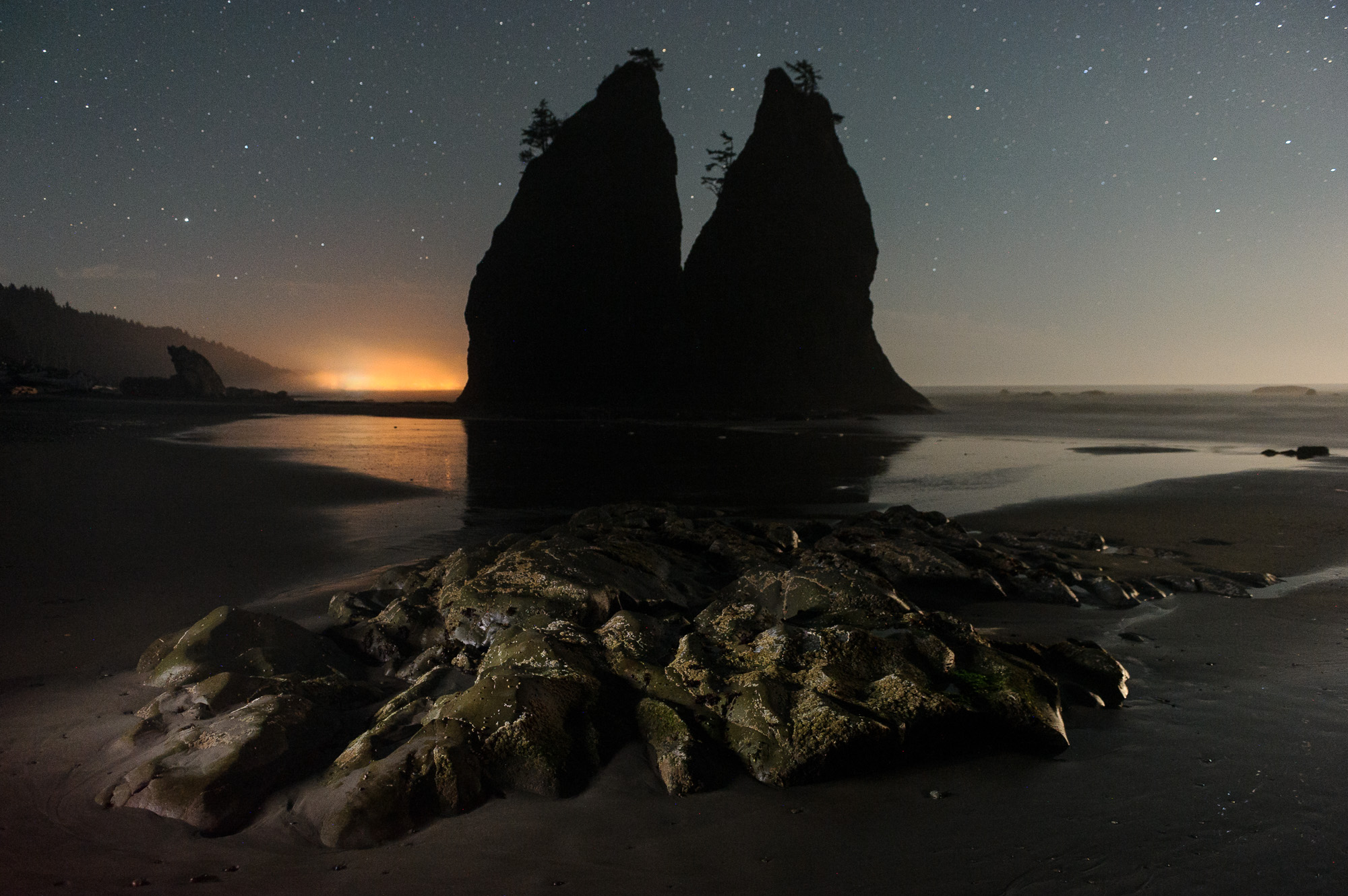 Shi Shi Beach Backcountry—COMPLETED - Hike to the shores of Shi Shi Beach in Olympic National Park, to camp under the Milky Way and photograph the sea stacks and stars.