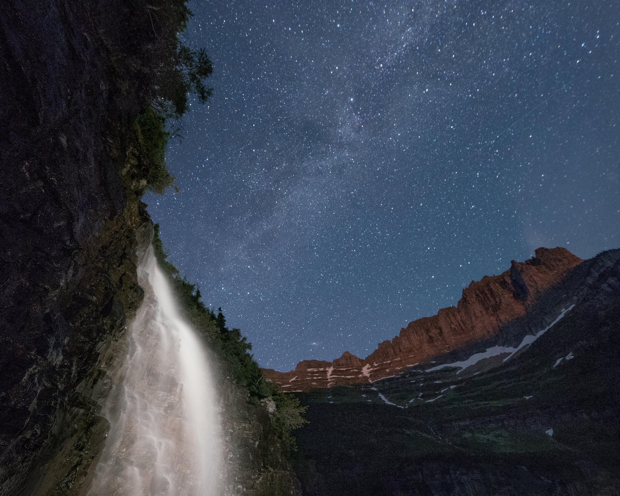 Weeping Wall, Night Sky