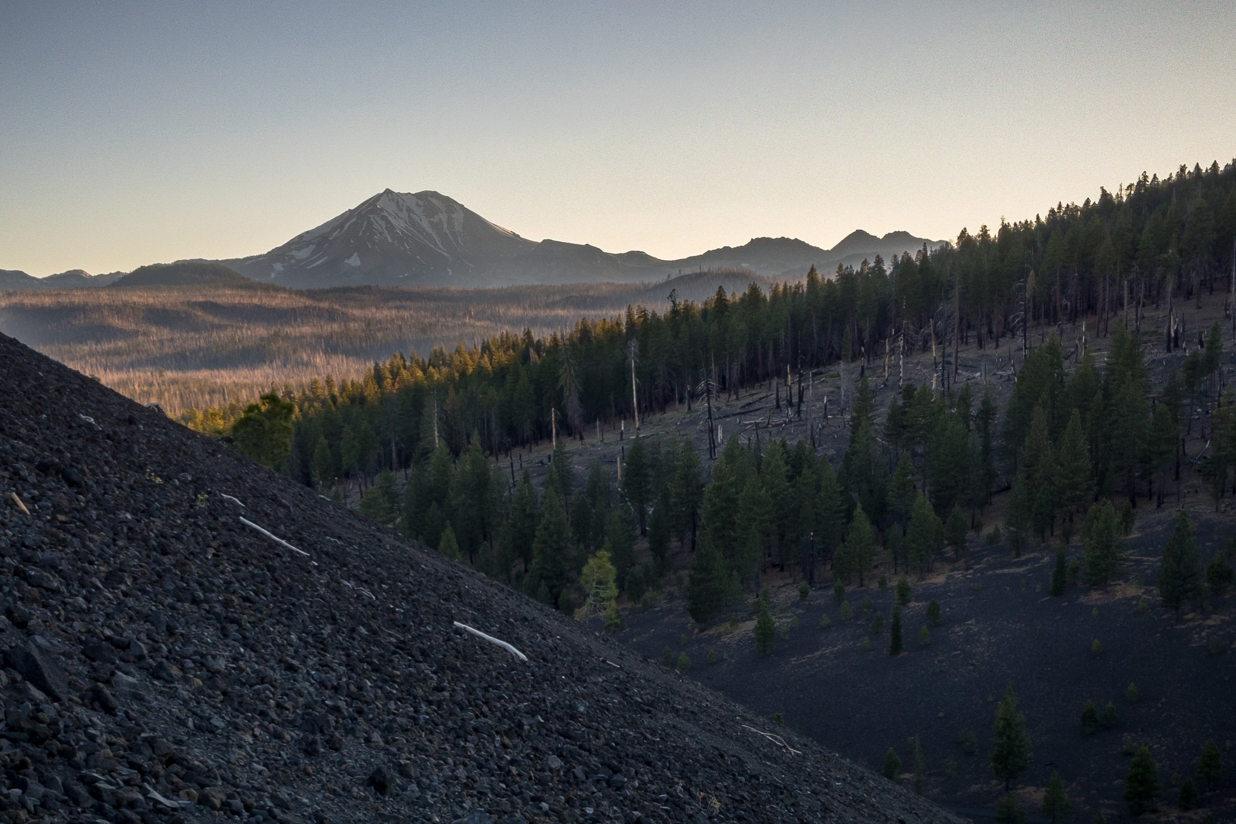 Lassen peak from Cinder Cone at Sunset. iPhone 6S+.