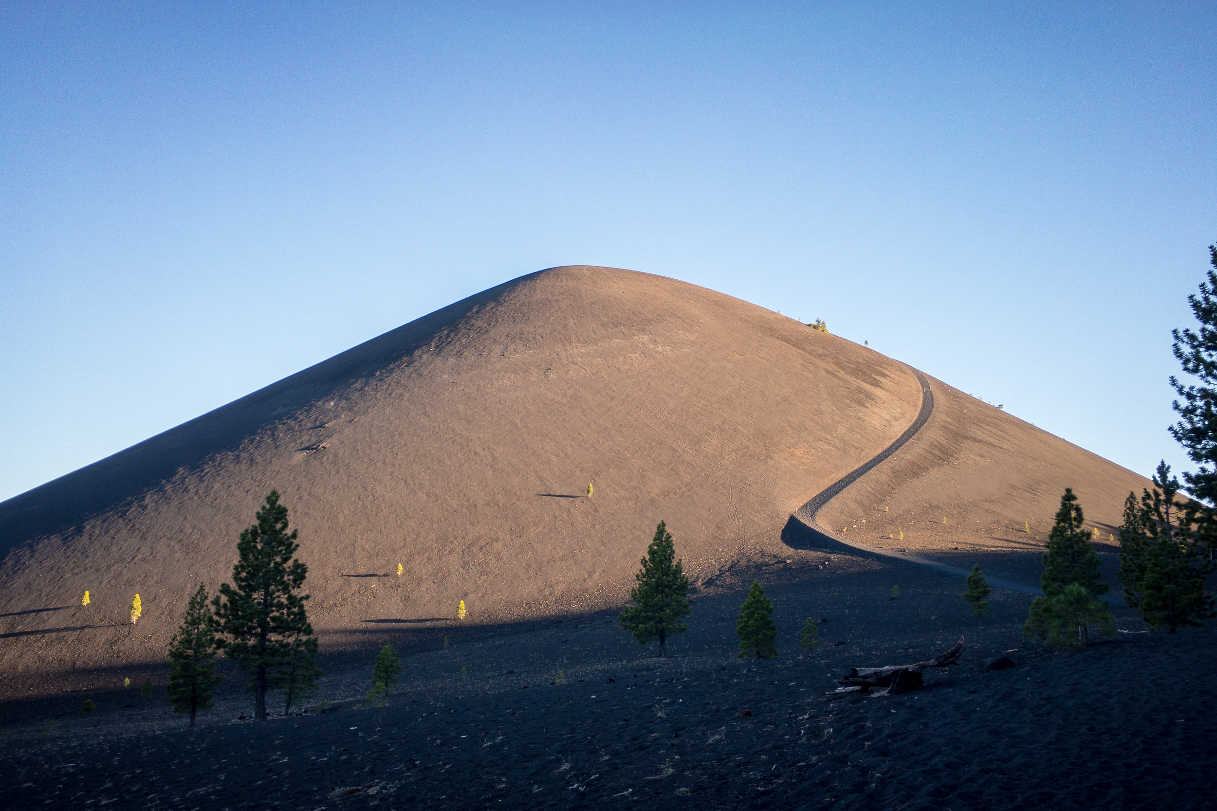 Cinder Cone from the Butte Lake Campground trailhead. iPhone 6S+.