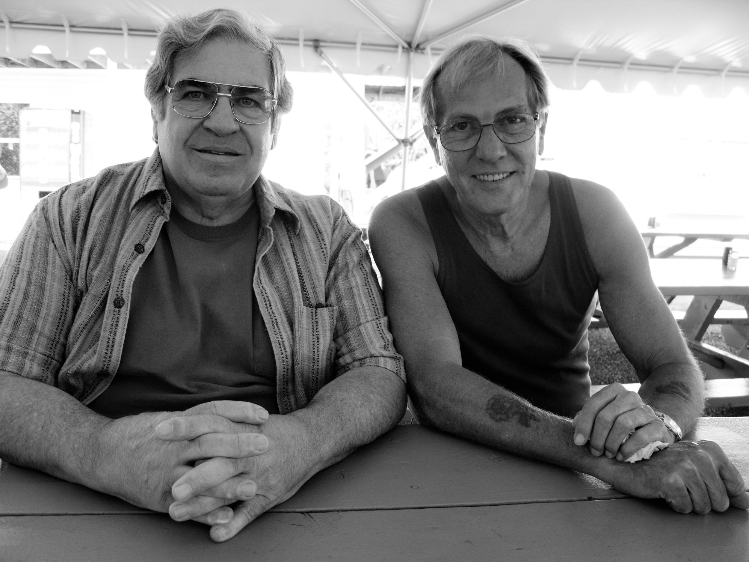 Two masters of the darkroom: Paul Caponigro (left) and George Tice.