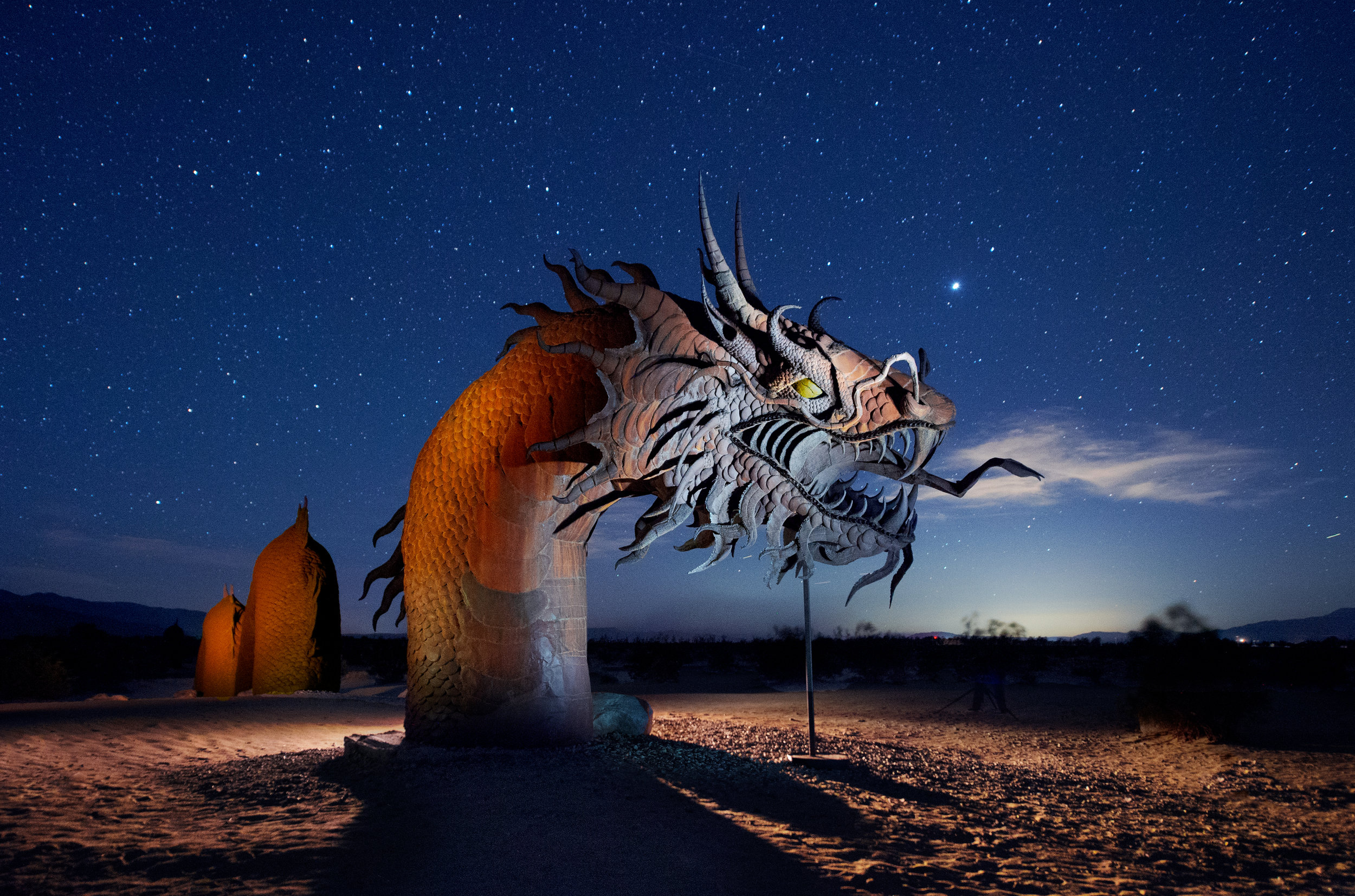 Serpent—Borrego Springs. Nikon D4s, 14-24mm f/2.8 lens set at 24mm. Three exposures at 15 seconds, f/4, ISO 6400.