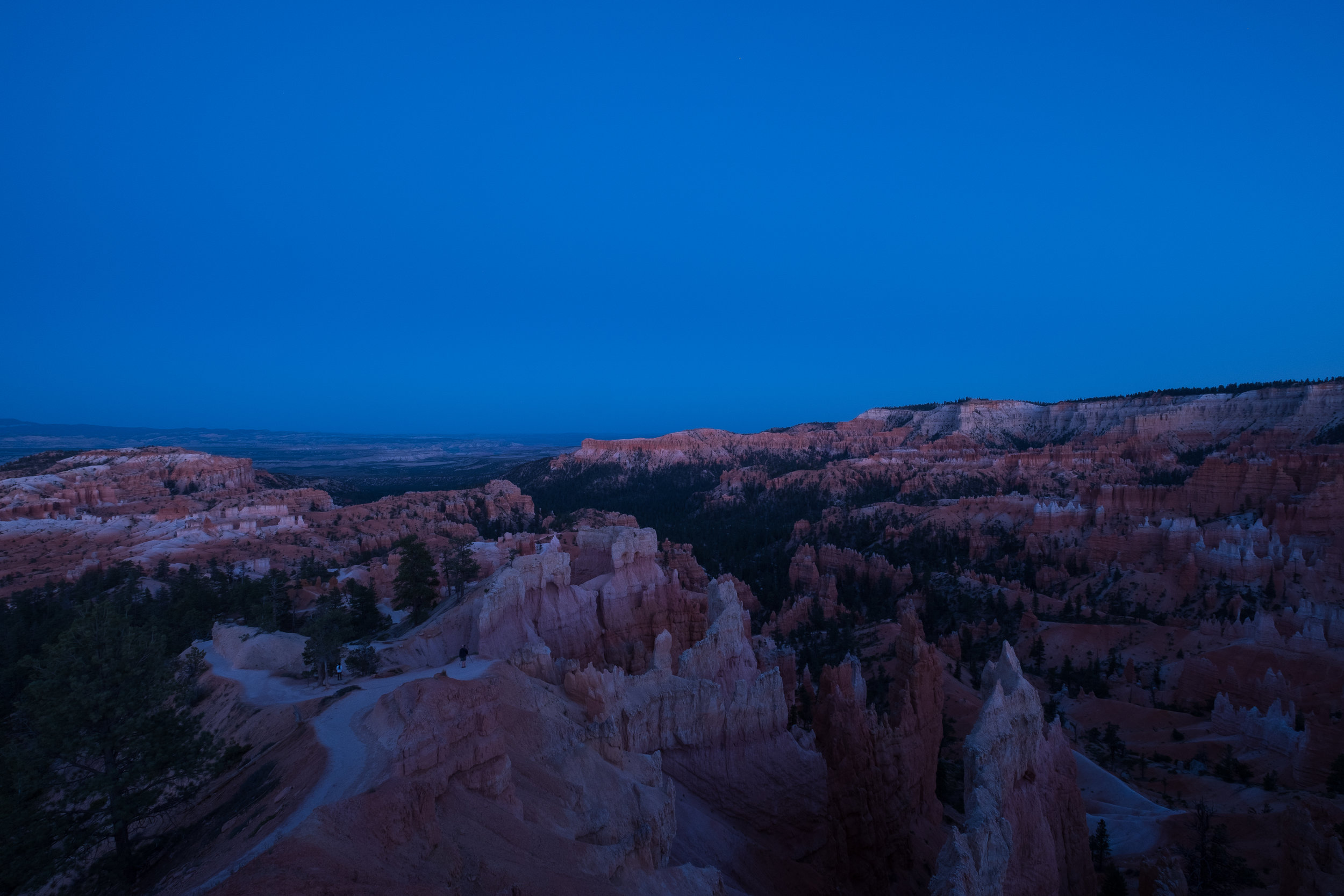 Figure 3. The canyon during civil twilight. 1 second, f/8, ISO 200.