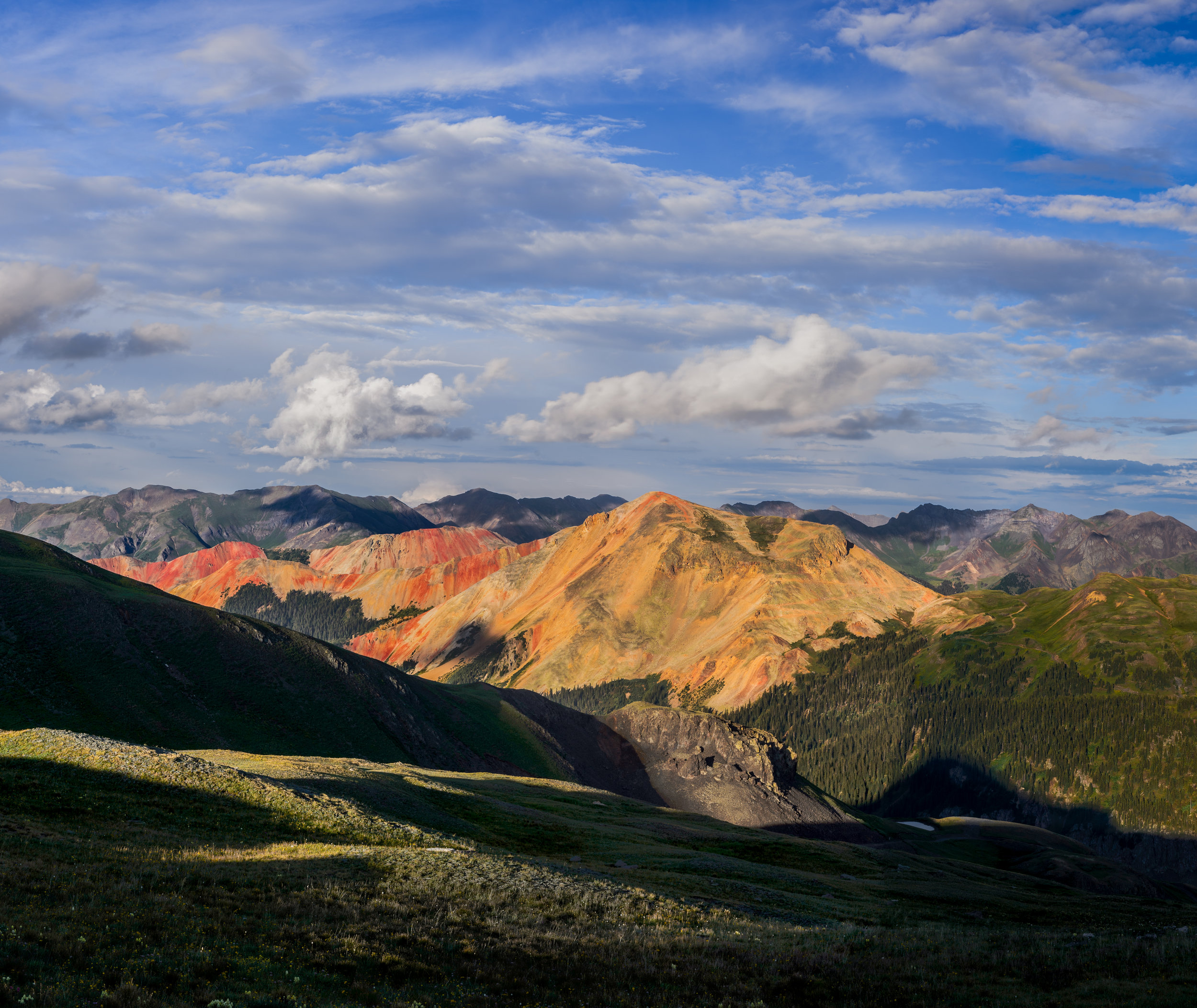 Red Mountains from Lower Black Bear Pass