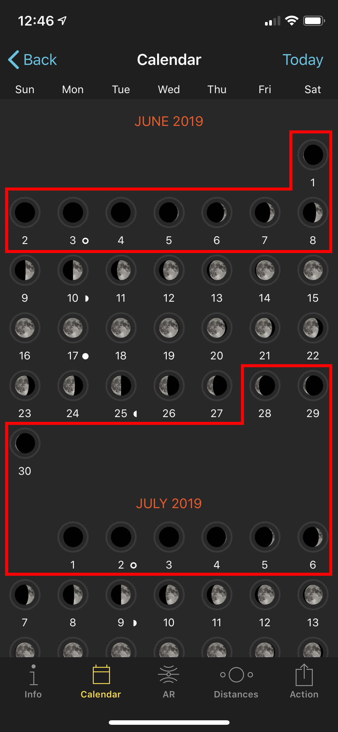For ideal lack-of-light conditions, consider shooting during the few days before and after new moon.